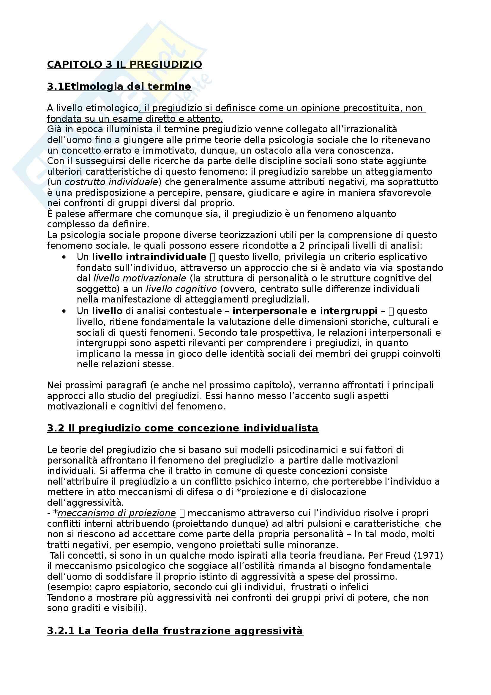 Riassunto esame Tecniche di intervento nella mediazione culturale, prof. Villano, libro consigliato Pregiudizi e stereotipi, Villano Pag. 16