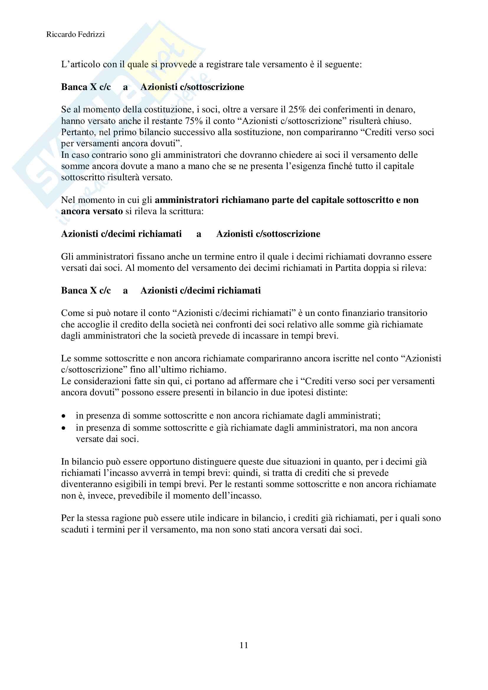 Economia e misurazione aziendale Pag. 11