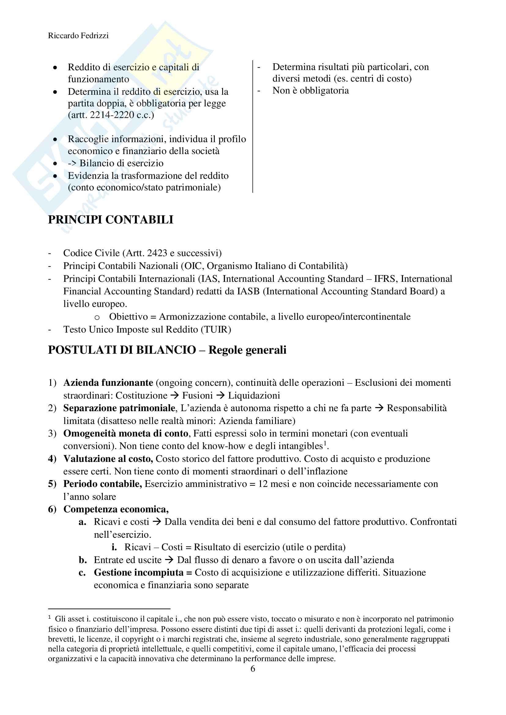Economia e misurazione aziendale Pag. 6