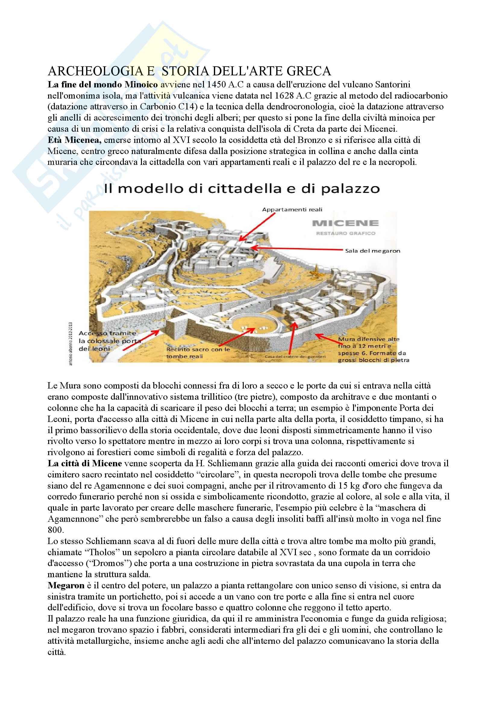 Appunti civiltà Minoica e scultura greca