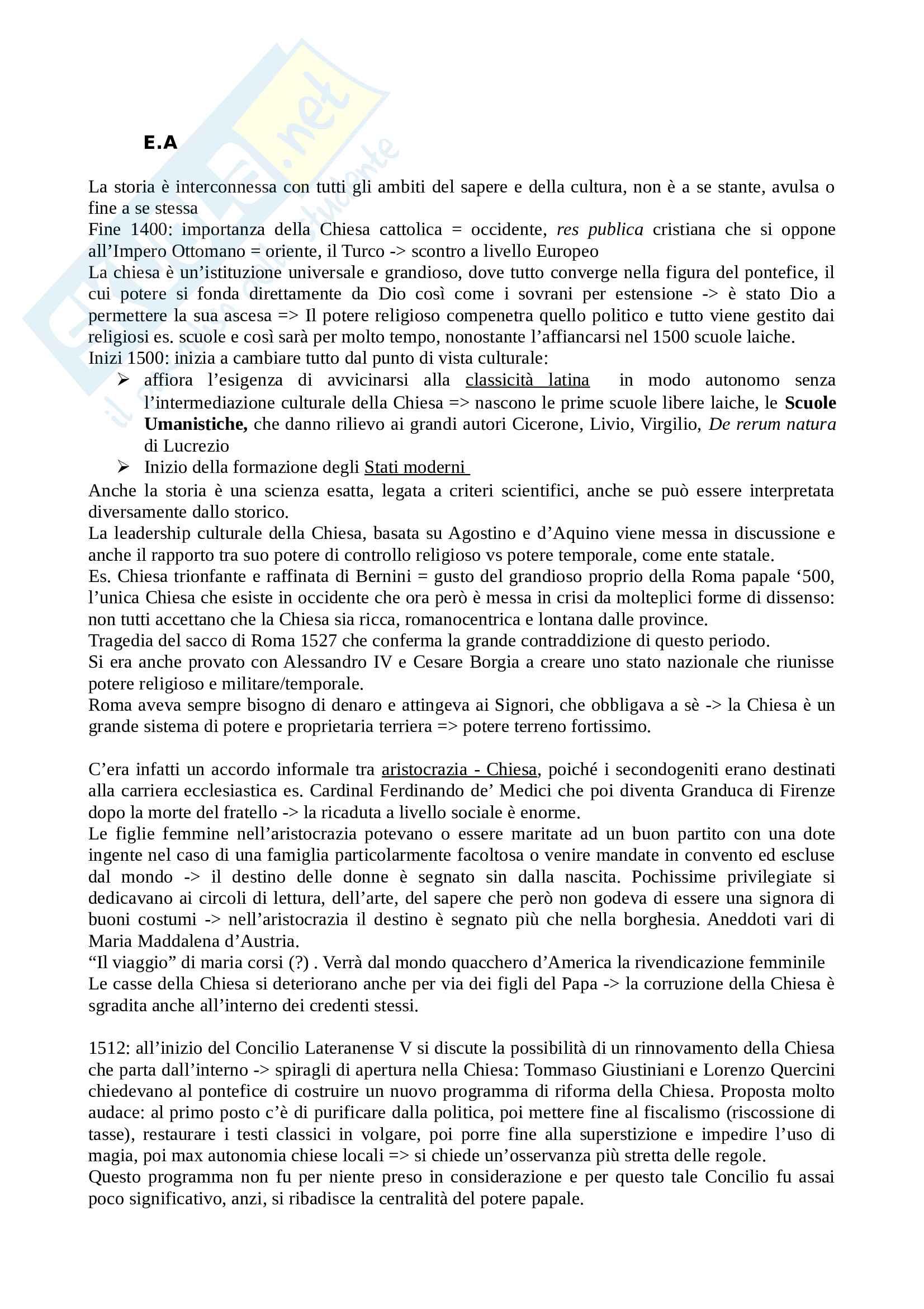 Riassunto esame Storia moderna, prof. Sodini, libro consigliato Fino alla pace di Westfalia, Ago, Vidotto Pag. 1