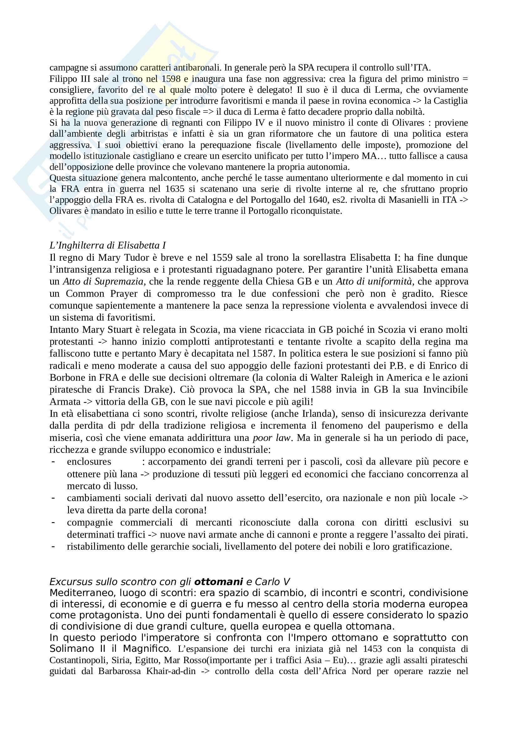 Riassunto esame Storia moderna, prof. Sodini, libro consigliato Fino alla pace di Westfalia, Ago, Vidotto Pag. 16