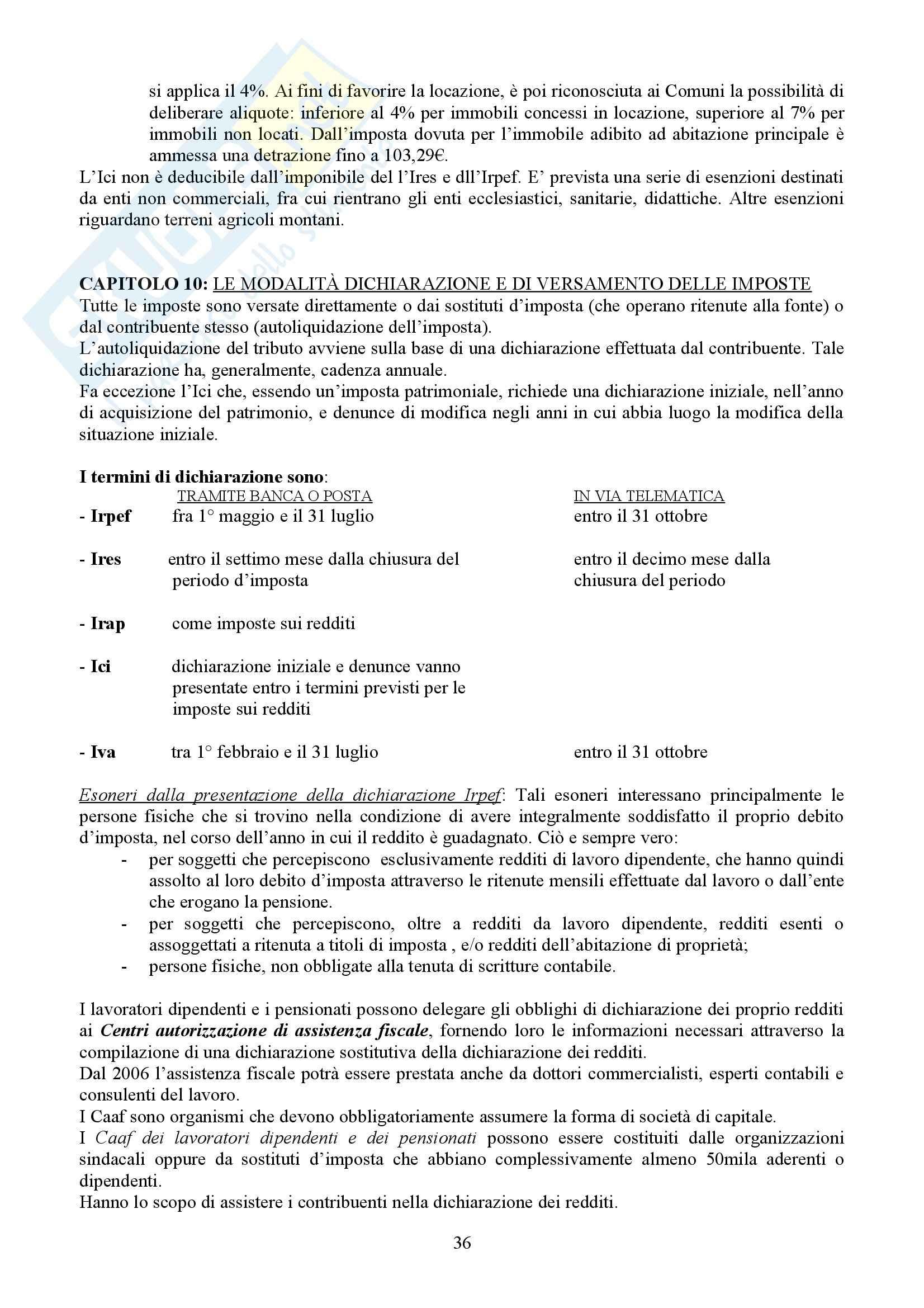 Tributi nell'economia italiana, Bosi, Guerra - Appunti Pag. 36