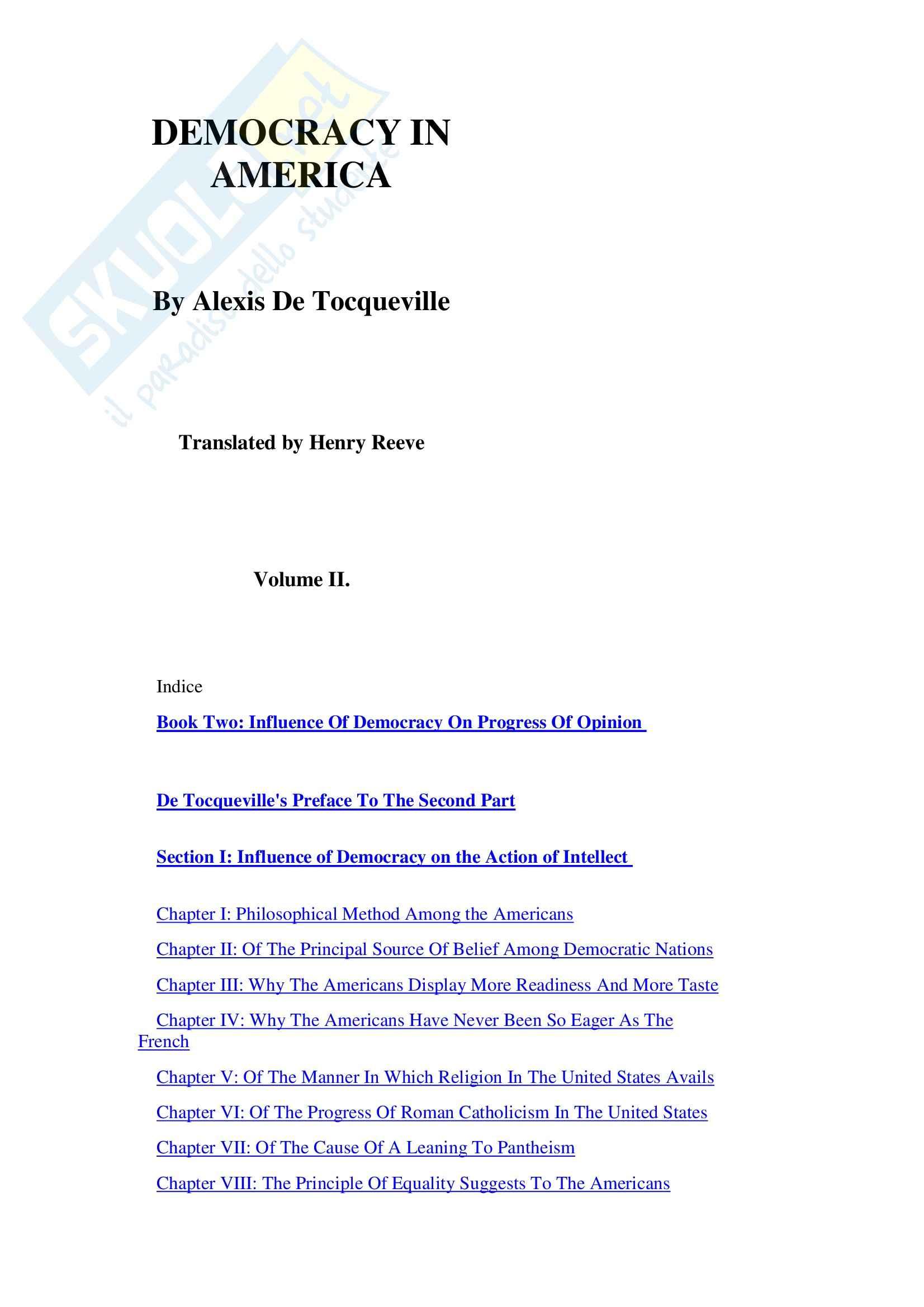 Democrazia in America, vol. 2 - Tocqueville