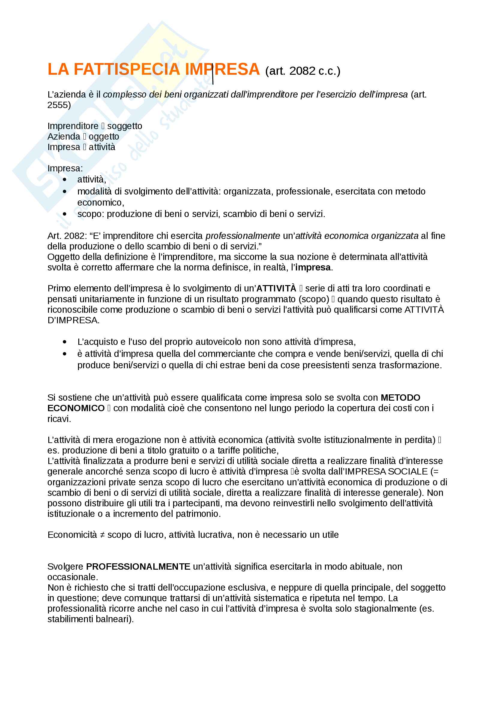 appunto M. De Mari Diritto Commerciale