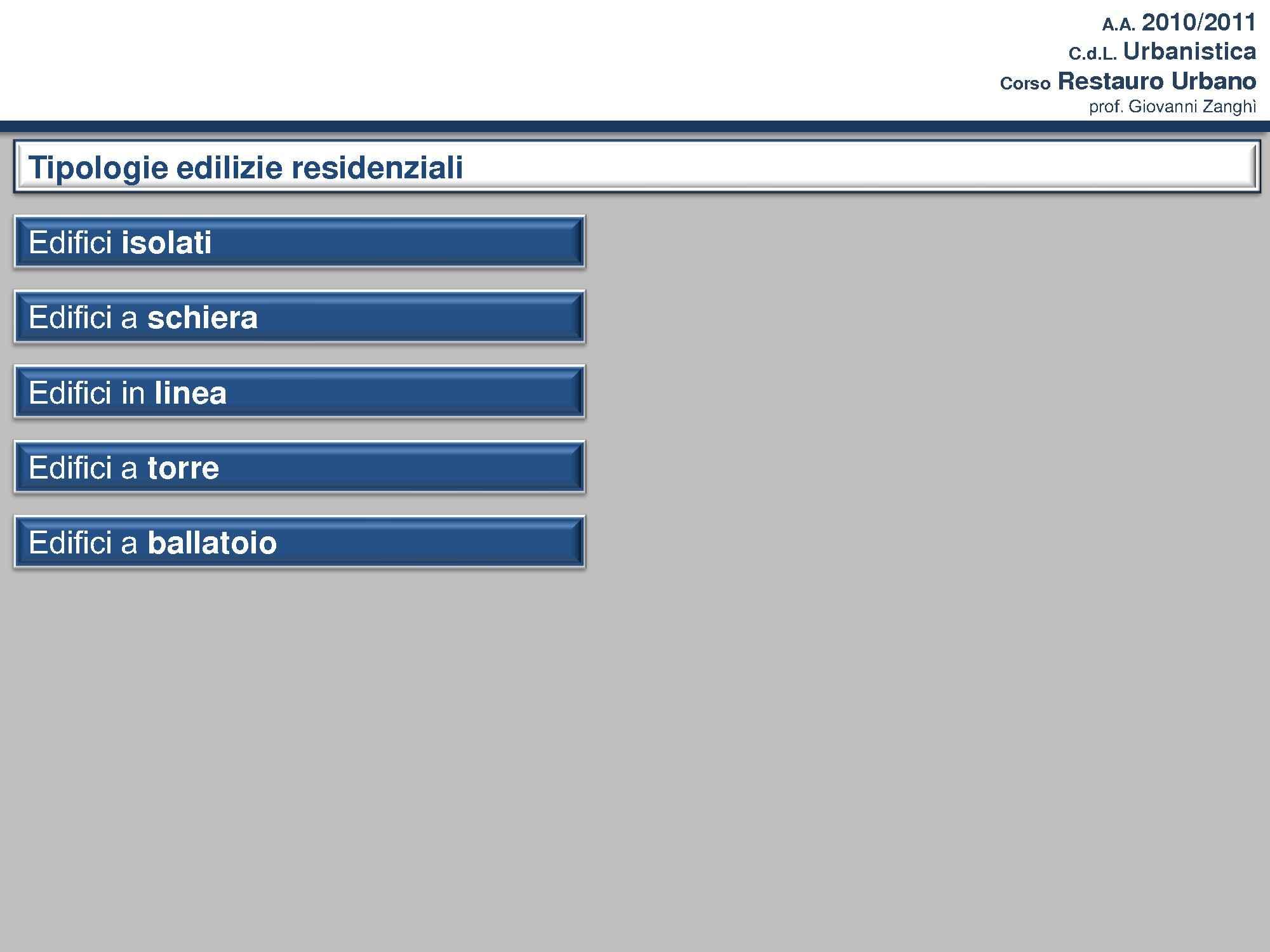 Tipologie edilizie residenziali