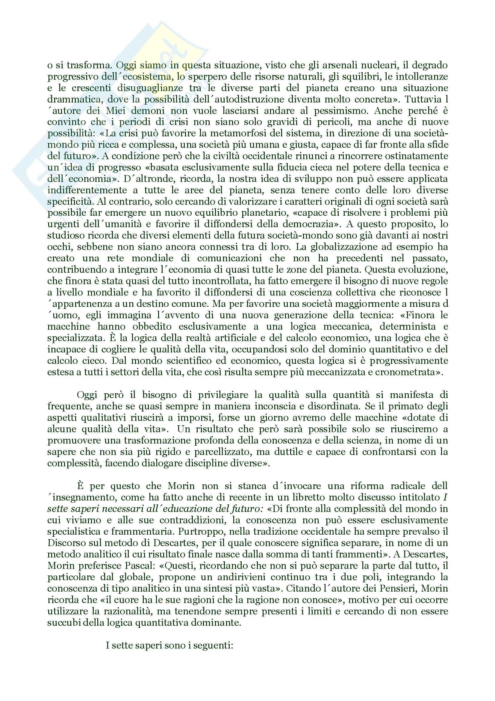 Filosofia della scienza – Morin Pag. 6