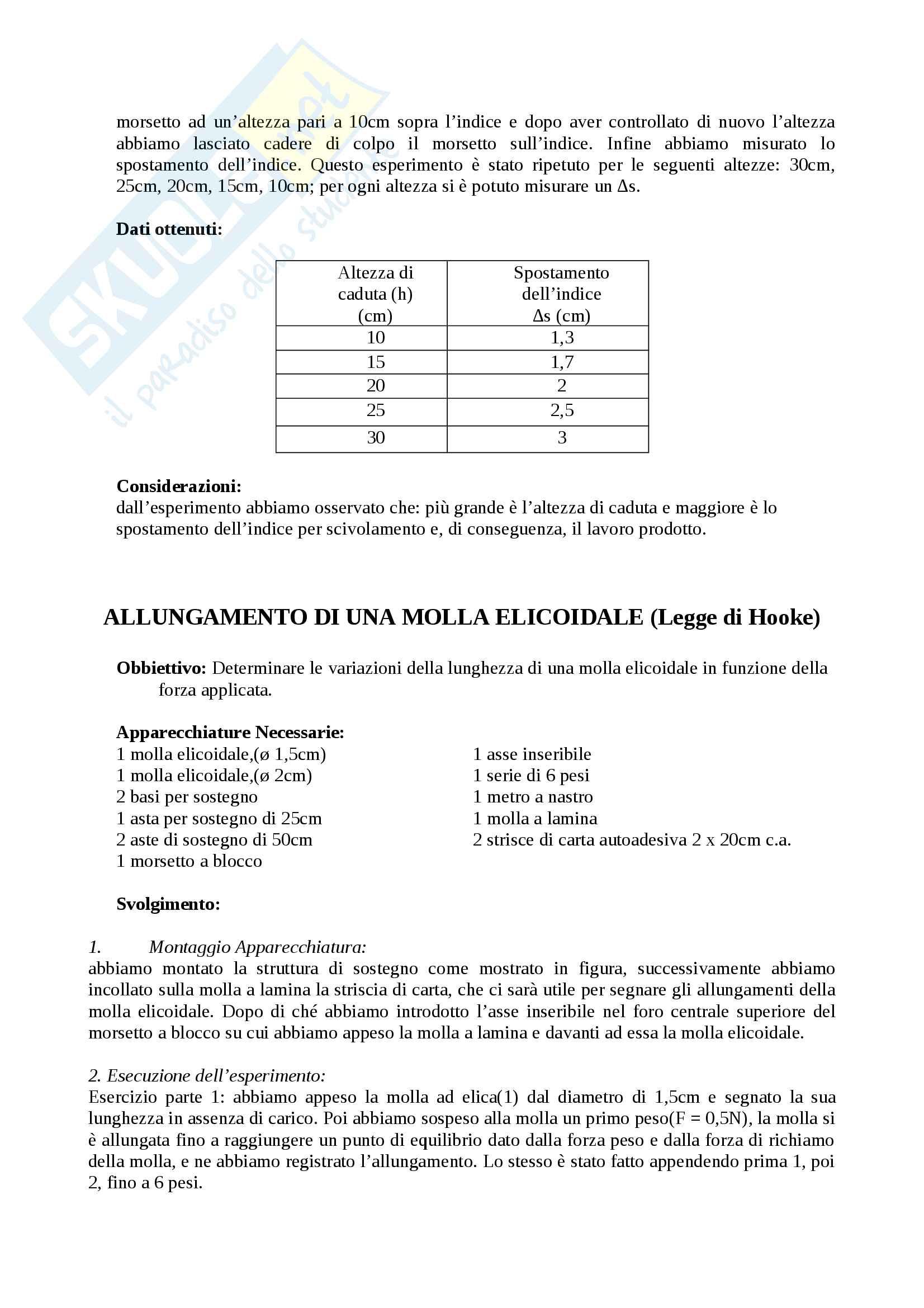 Relazioni di fisica Pag. 6