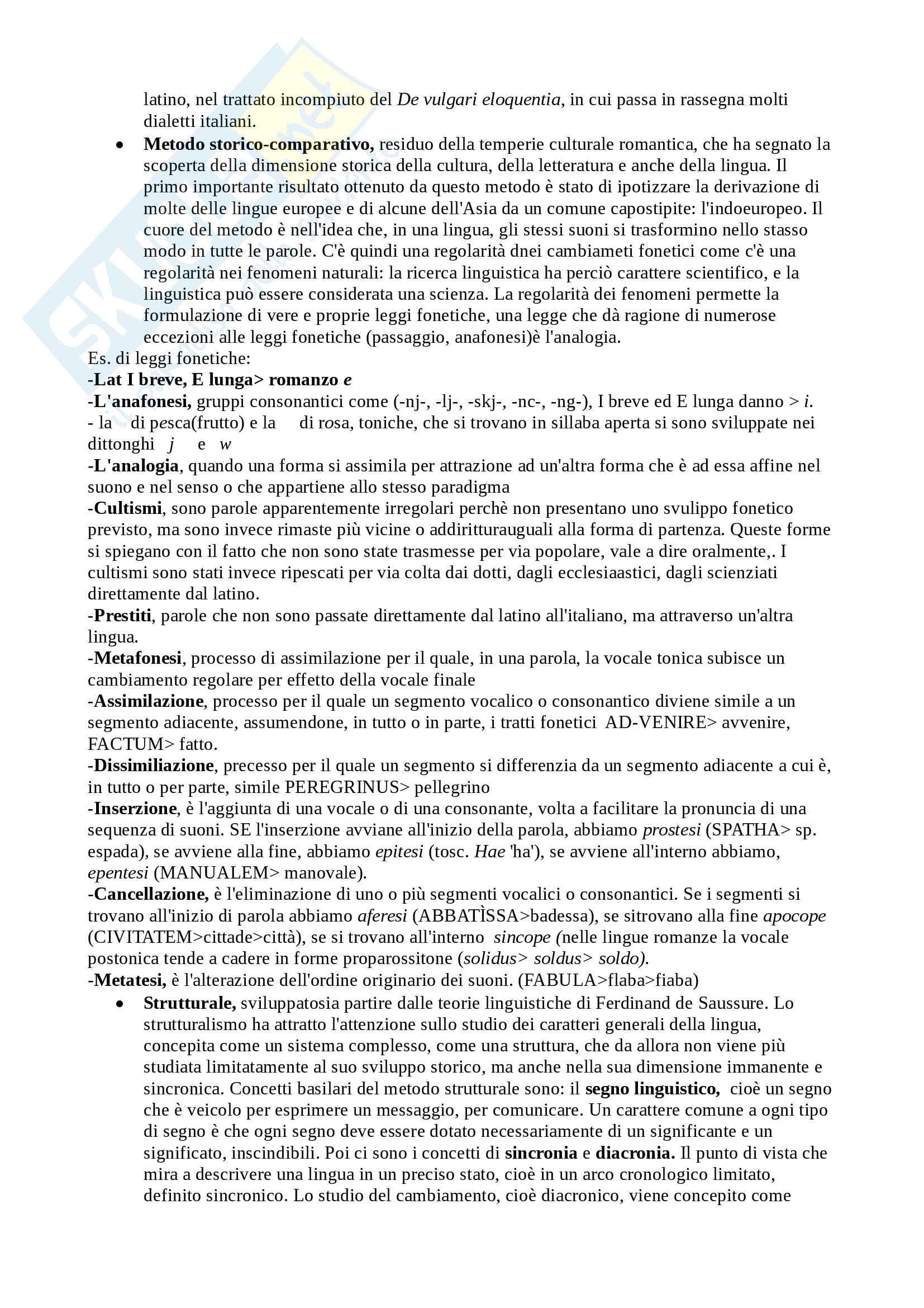 Riassunto esame Filologia Romanza, Cigni, libro consigliato Manuale di linguistica e filologia romanza, Renzi, Andreose Pag. 2