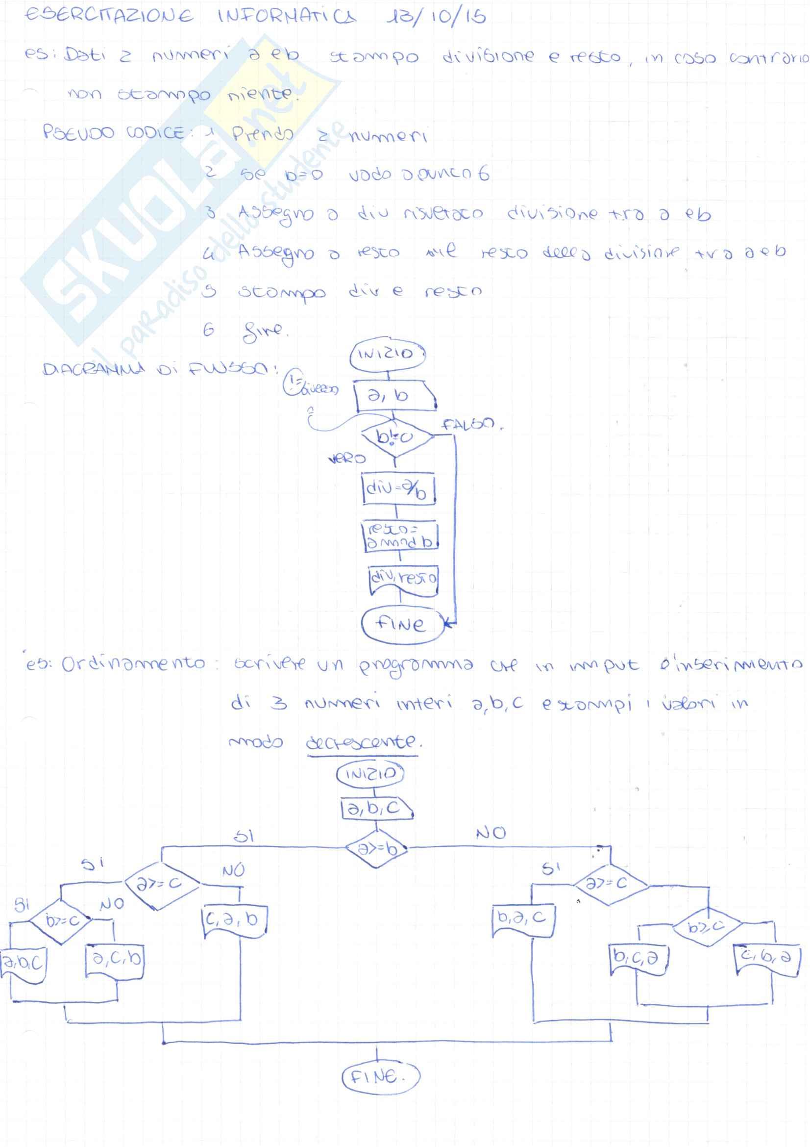 Raccolta Problemi ed Esercitazioni Pag. 1