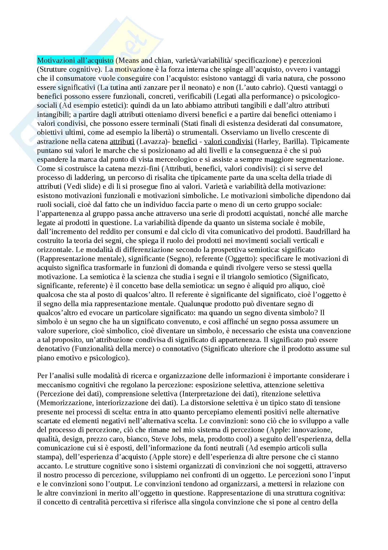 Riassunto esame Understanding Consumer 1, prof. Busacca Pag. 2