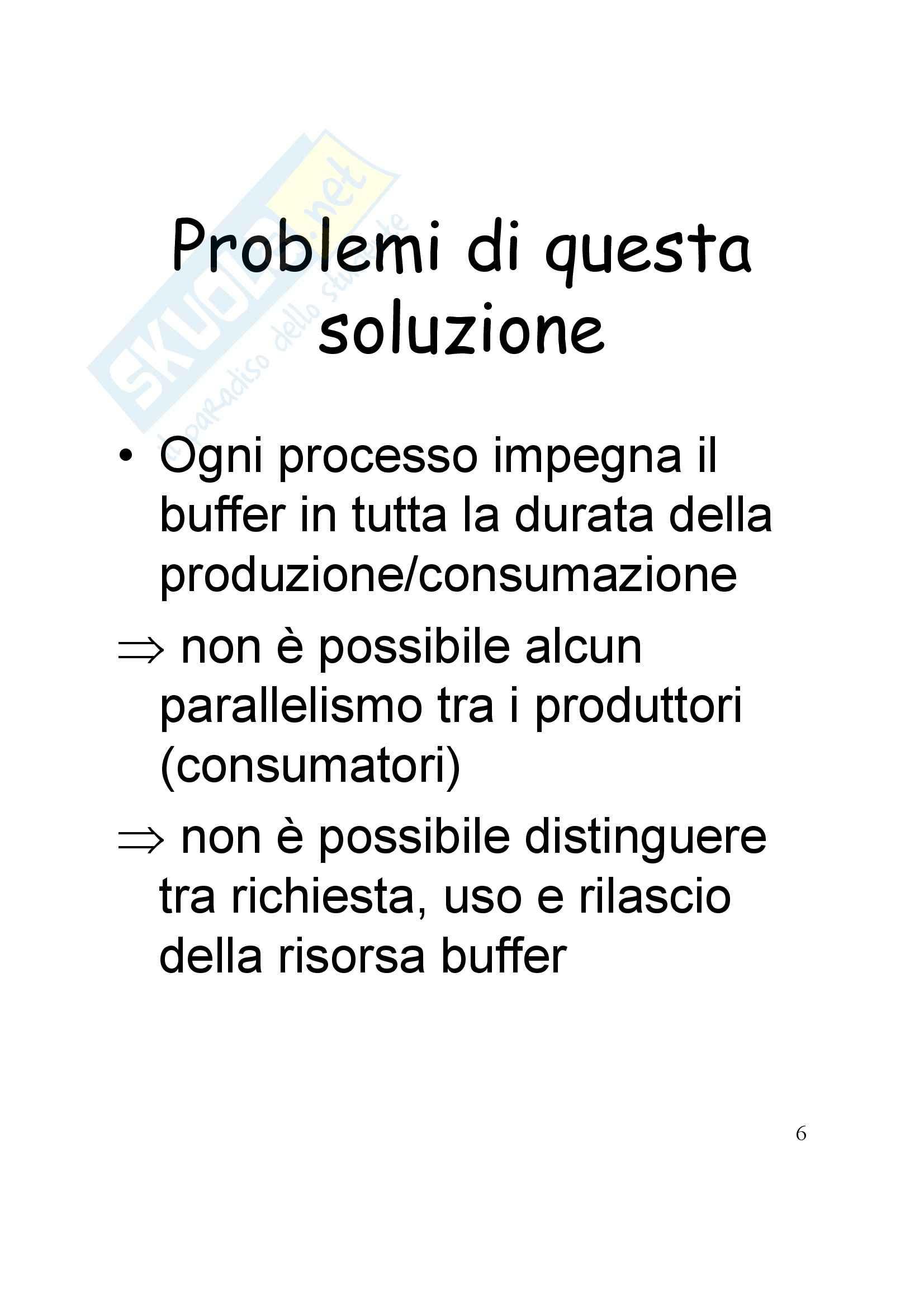 Sistemi operativi - Problema dei produttori e dei consumatori Pag. 6