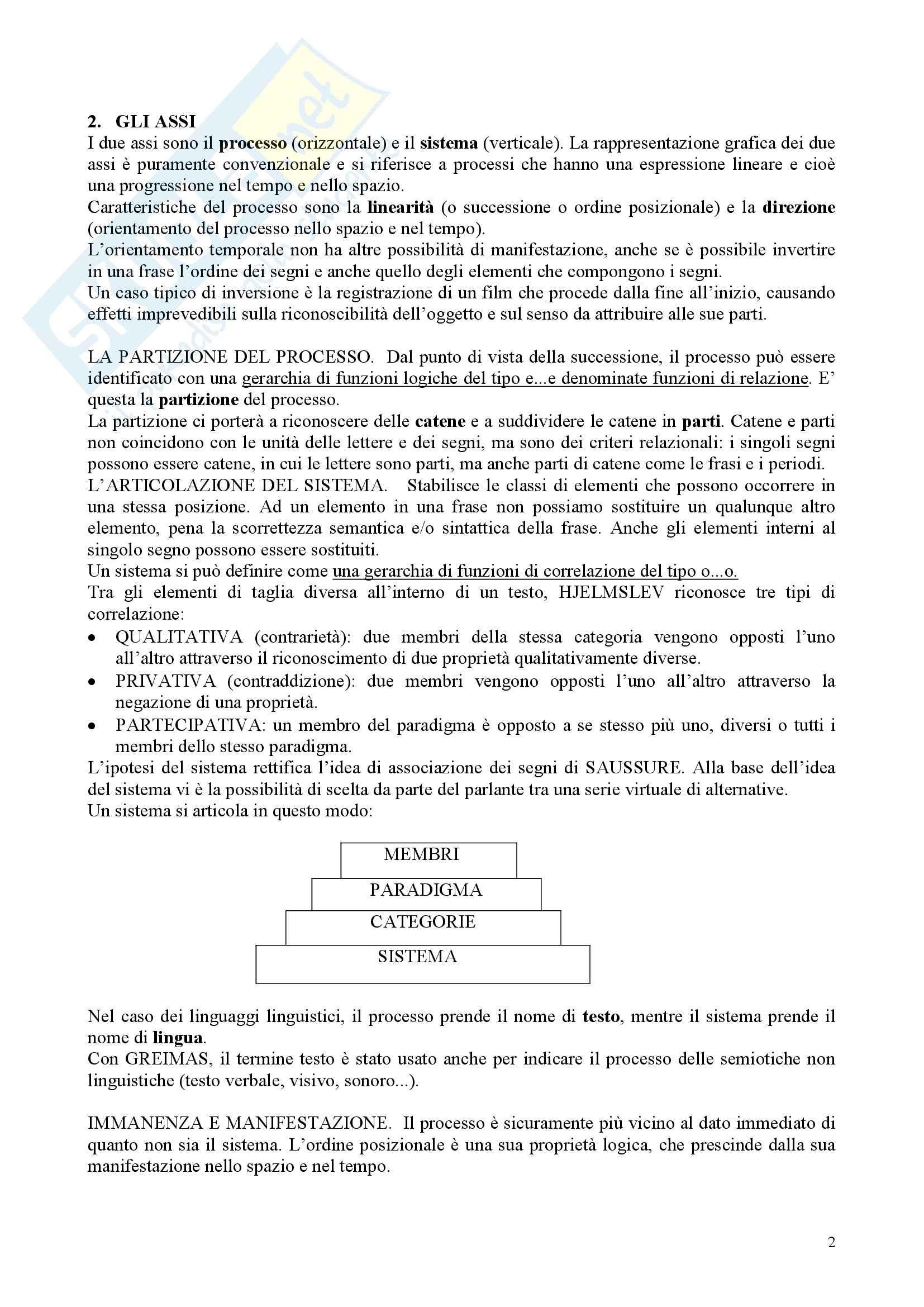 Semiotica - la semiotica generativa Pag. 2