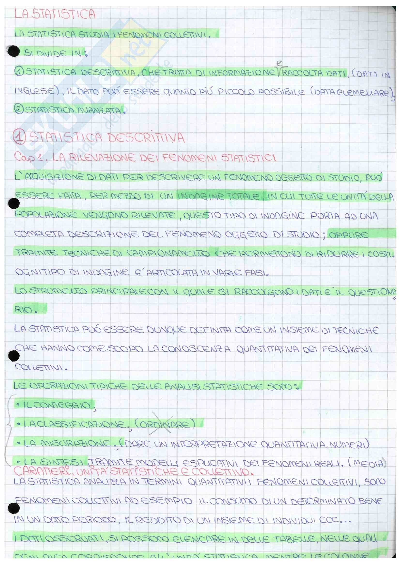 Riassunto esame Statistica, docente Oropallo, libro consigliato Statistica metodologie per le scienze economiche e sociali, Borra/Di Ciaccio