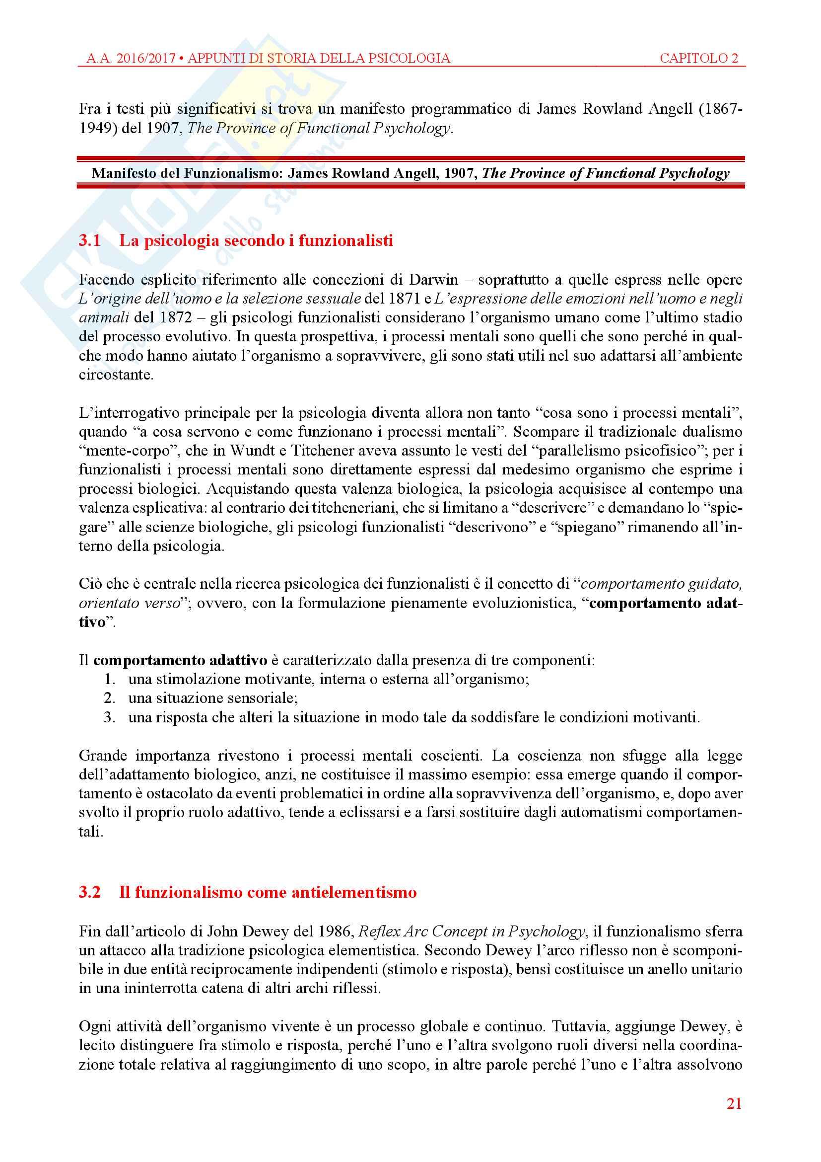 Storia della Psicologia - Appunti Pag. 21