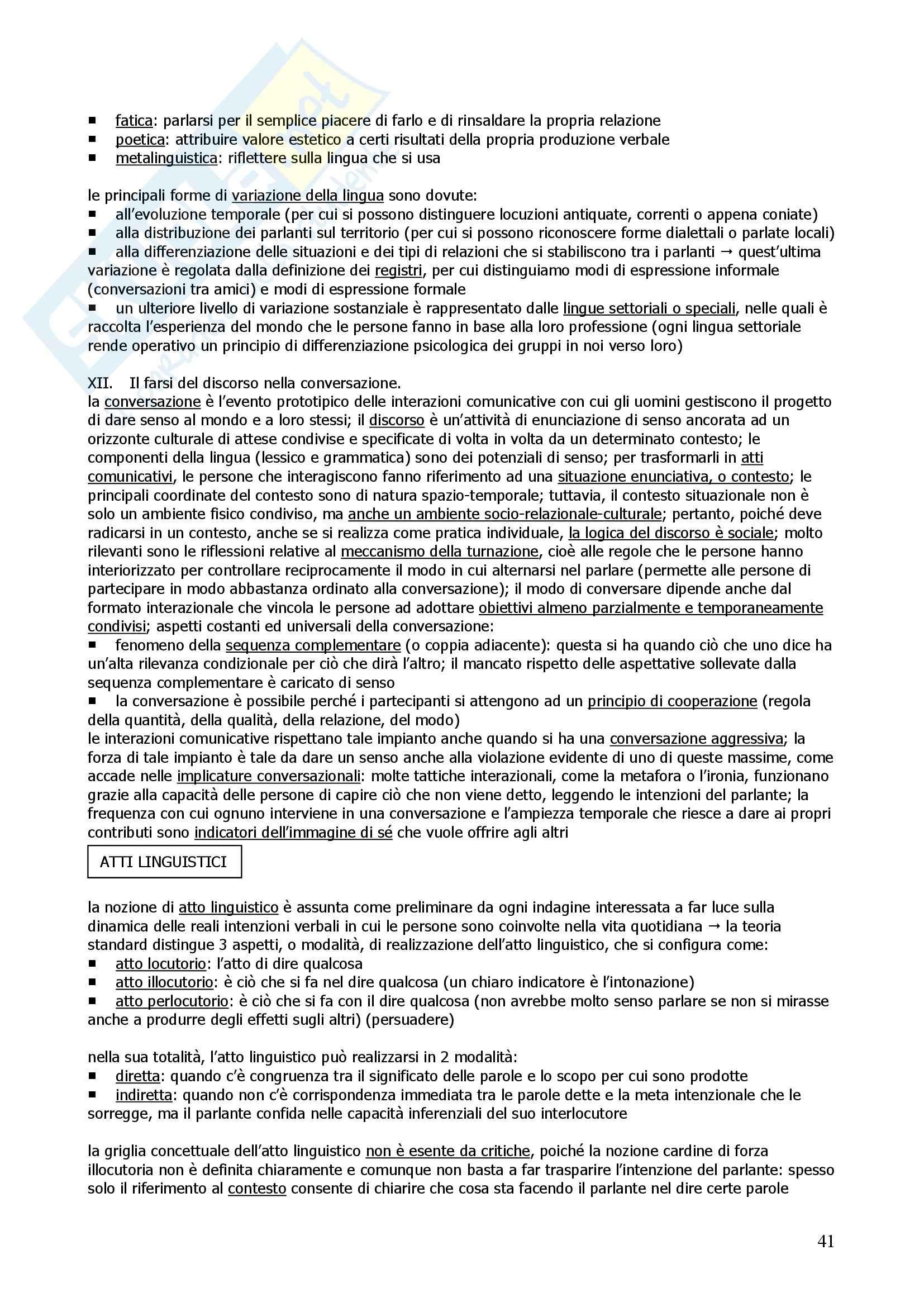 Riassunto esame Psicologia Generale, prof. indefinito, libro consigliato Psicologia Generale, Mecacci Pag. 41
