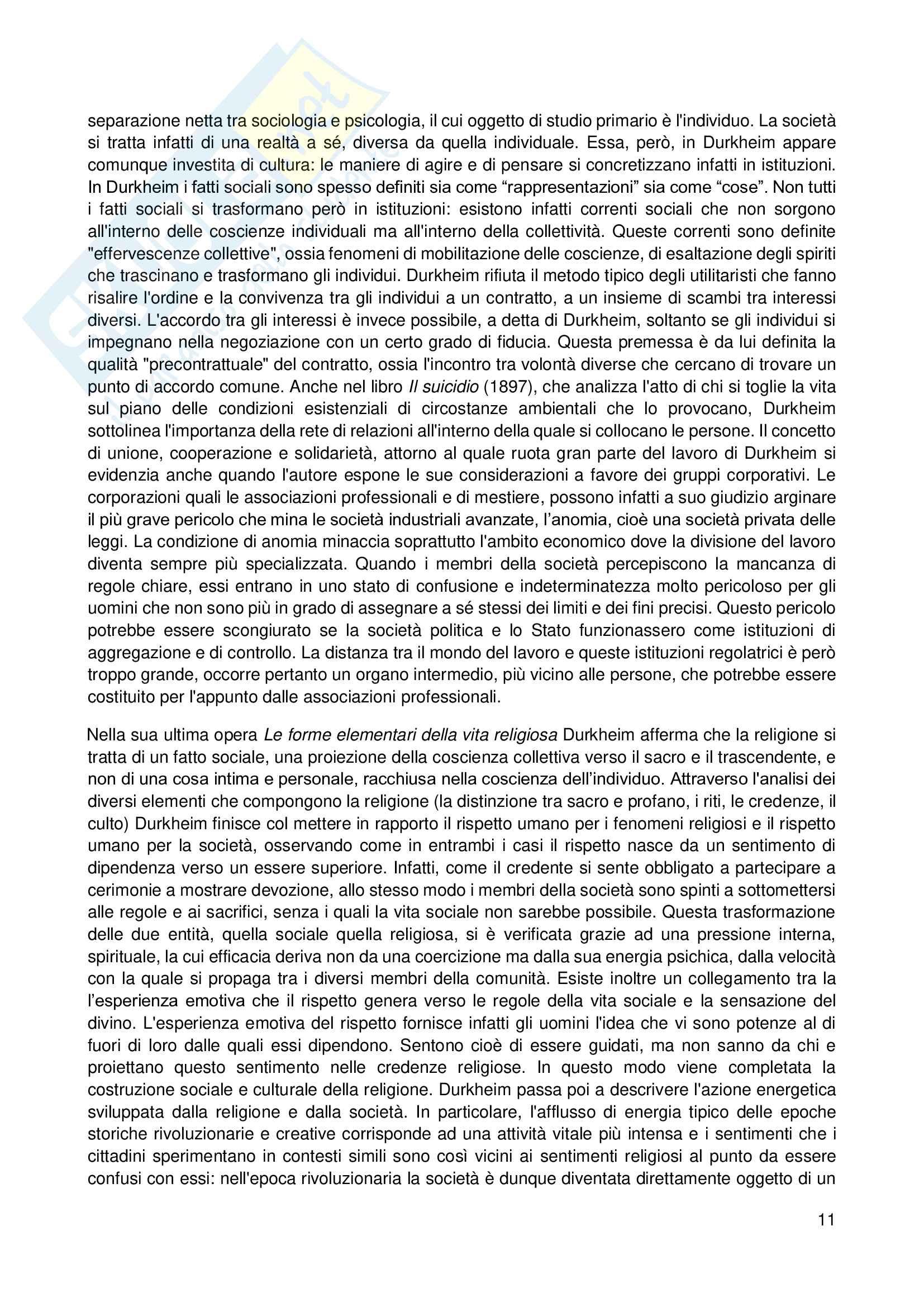 Riassunto esame Sociologia, prof. Scardigno, libro consigliato Il Gioco della Cultura, Piccone Pag. 11