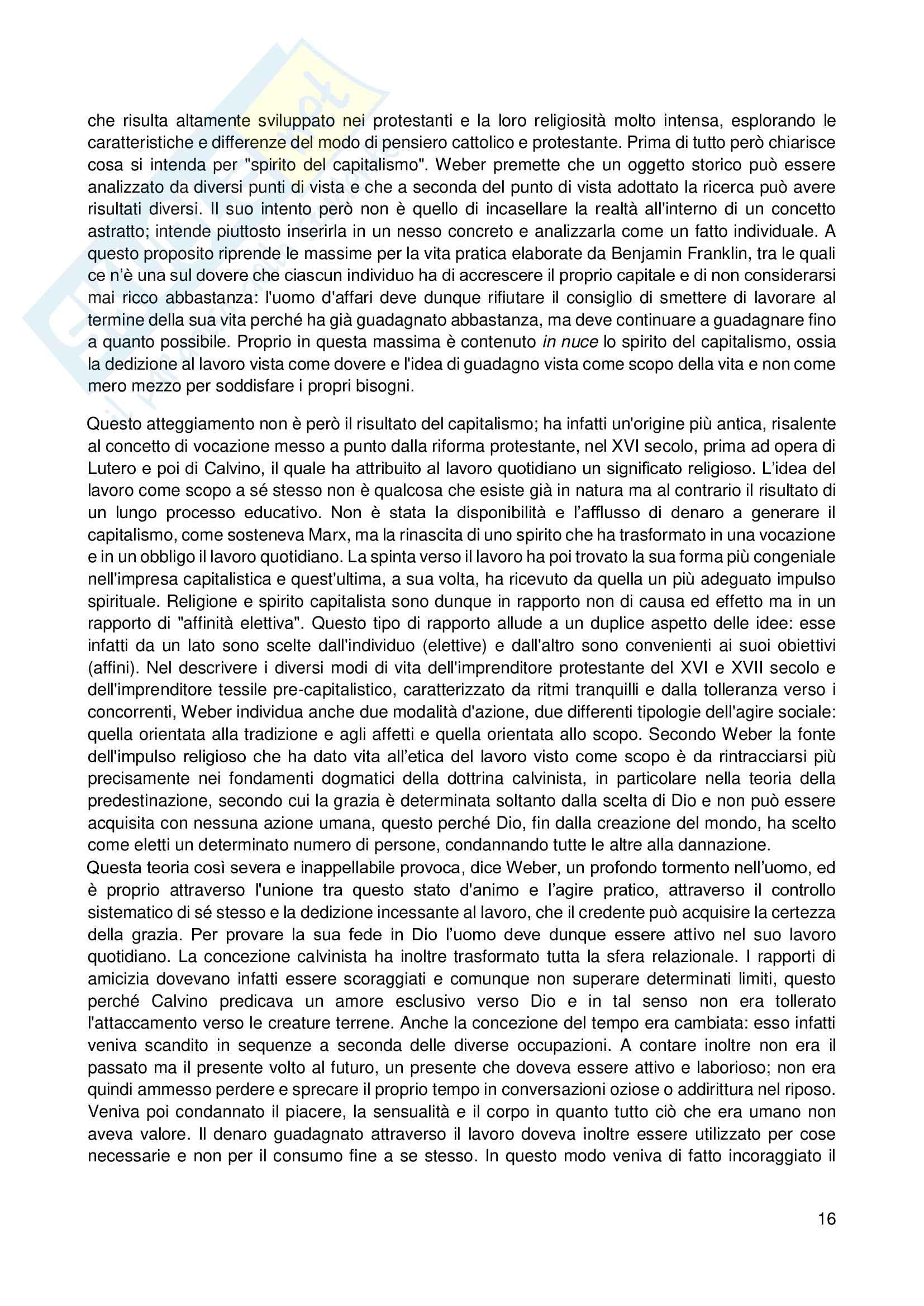 Riassunto esame Sociologia, prof. Scardigno, libro consigliato Il Gioco della Cultura, Piccone Pag. 16