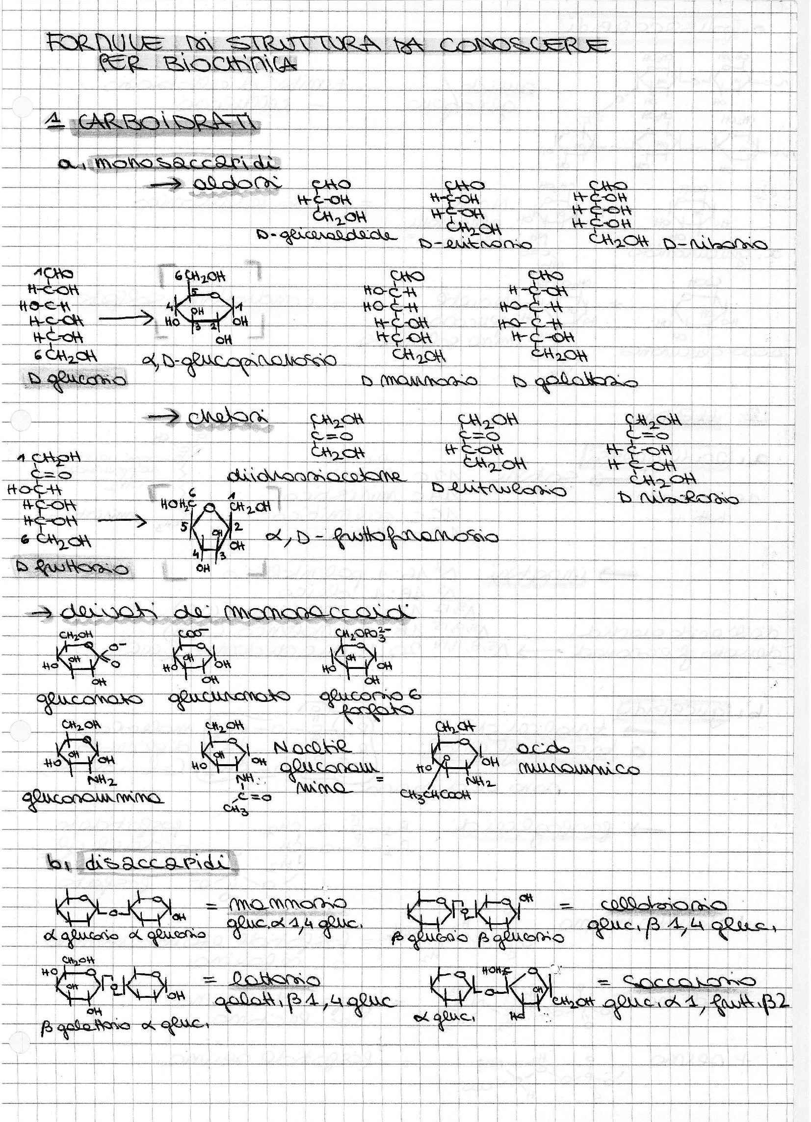 Formulario biochimica