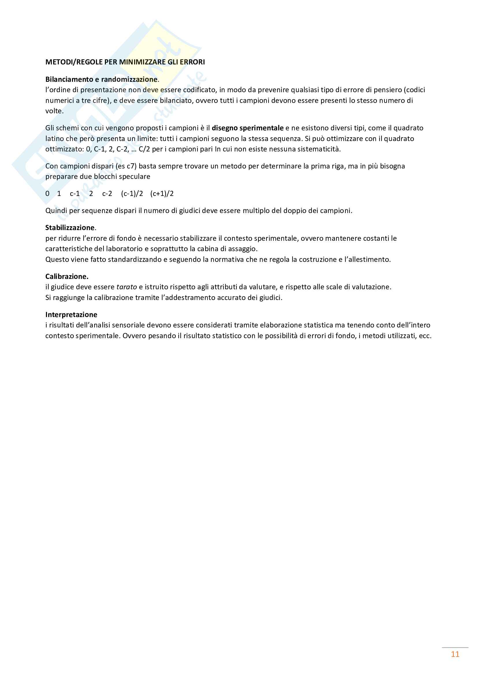 Appunti di Analisi Sensoriale Pag. 11
