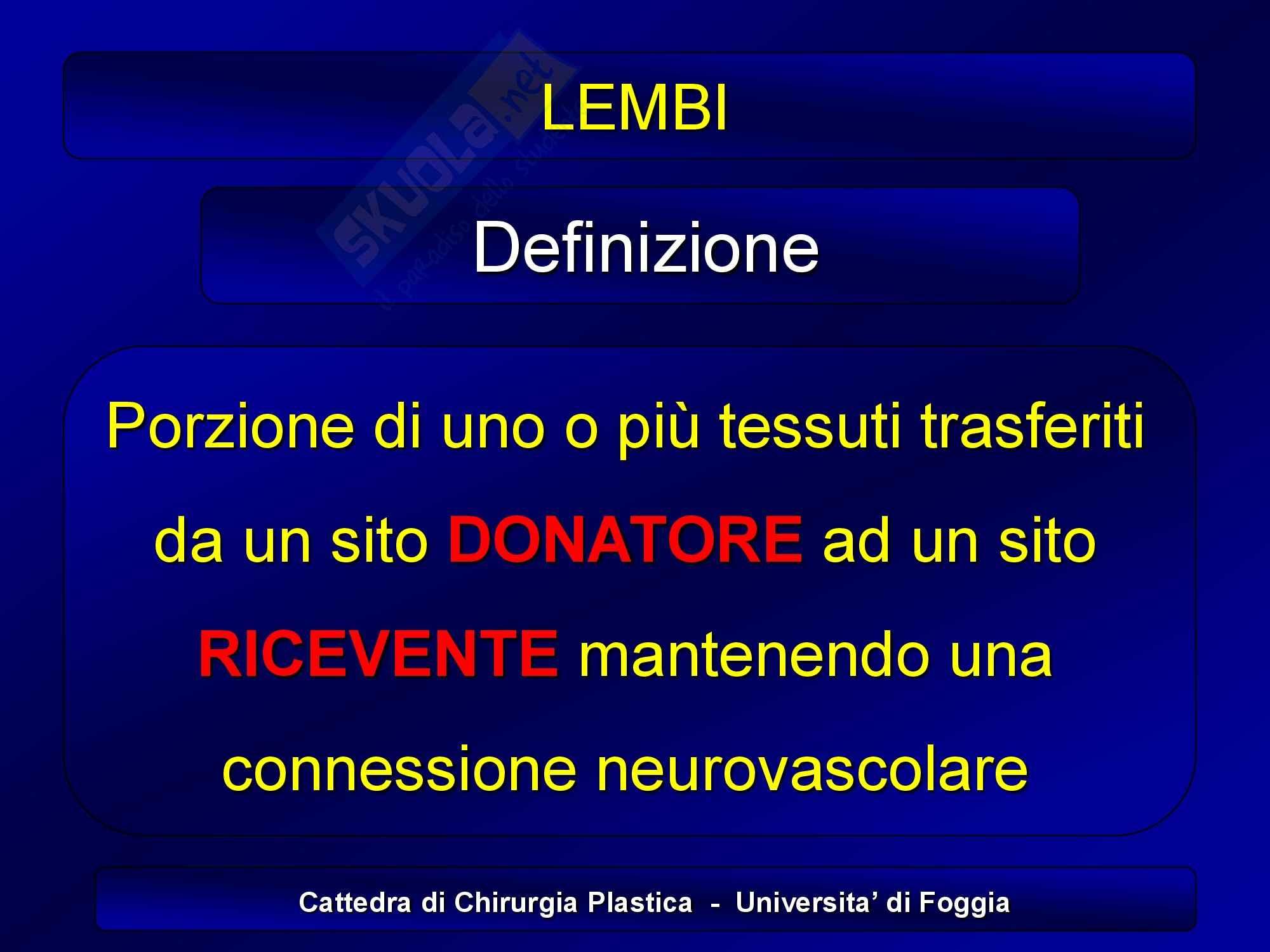 Chirurgia plastica - Lembi