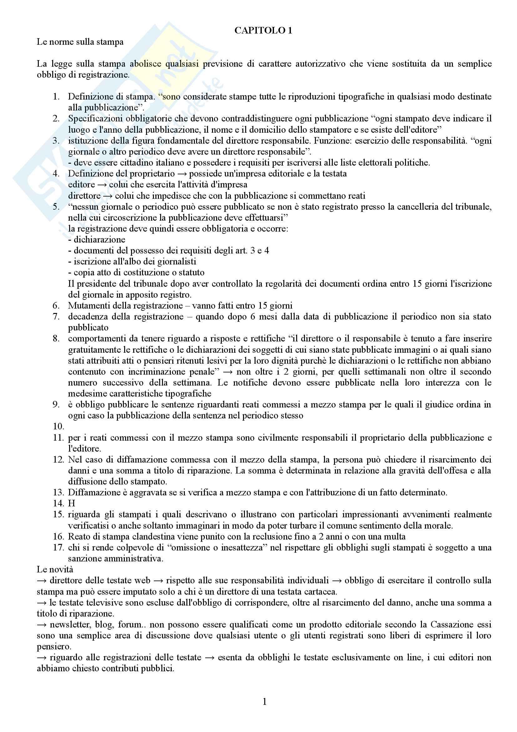 Riassunto esame comunicazione giornalistica, prof. Bartoli, libro consigliato Introduzione al giornalismo(informazione tra diritti e doveri)- autore C.Bartoli