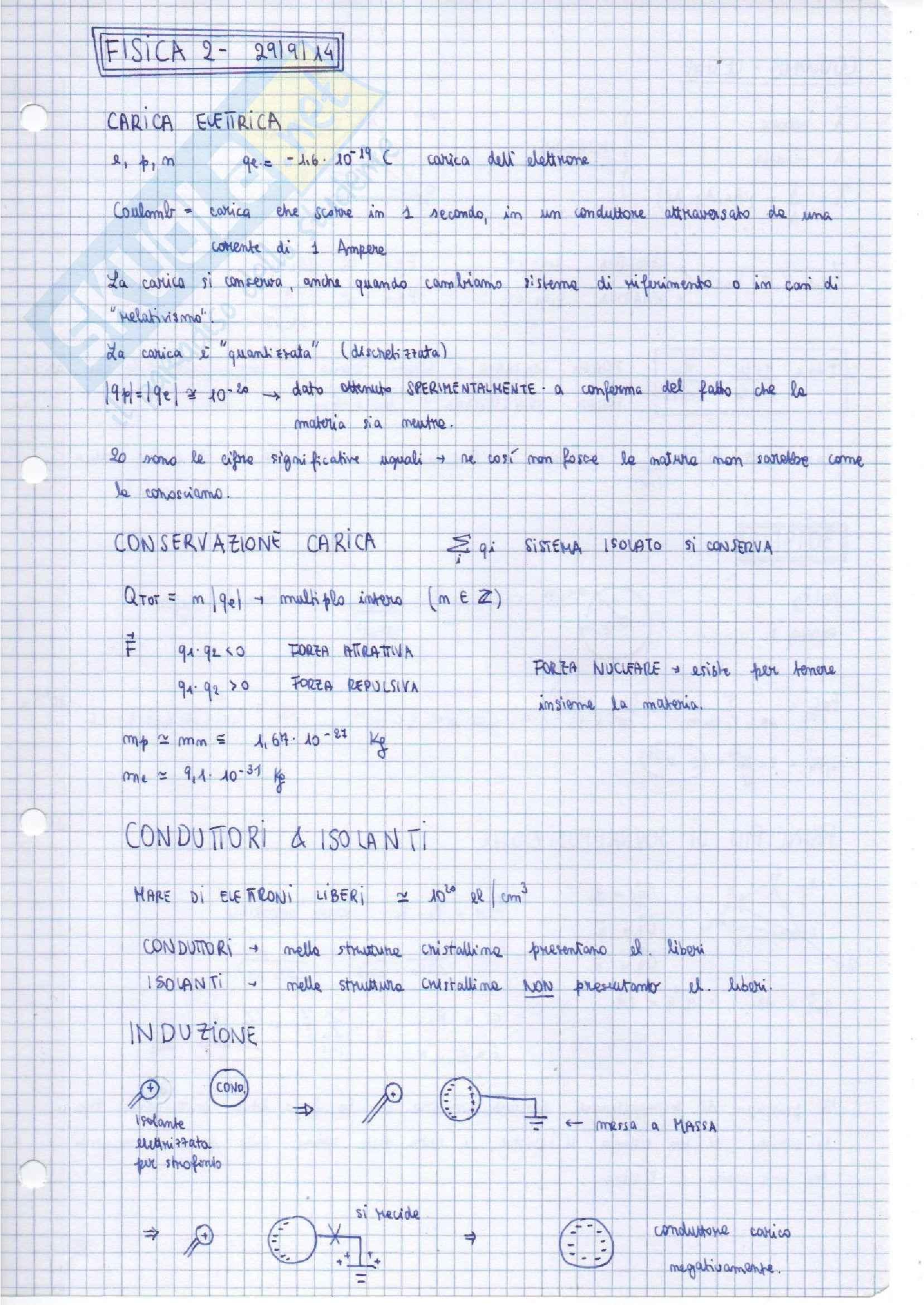 Appunti di Fisica II