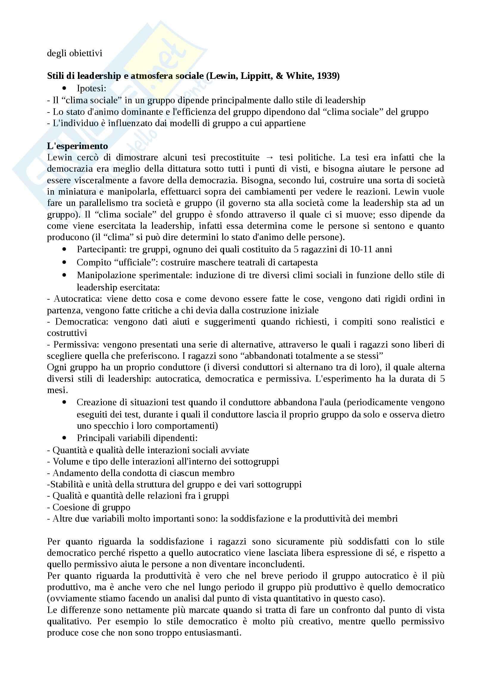 Nozioni parte 2, Psicologia Sociale Pag. 6