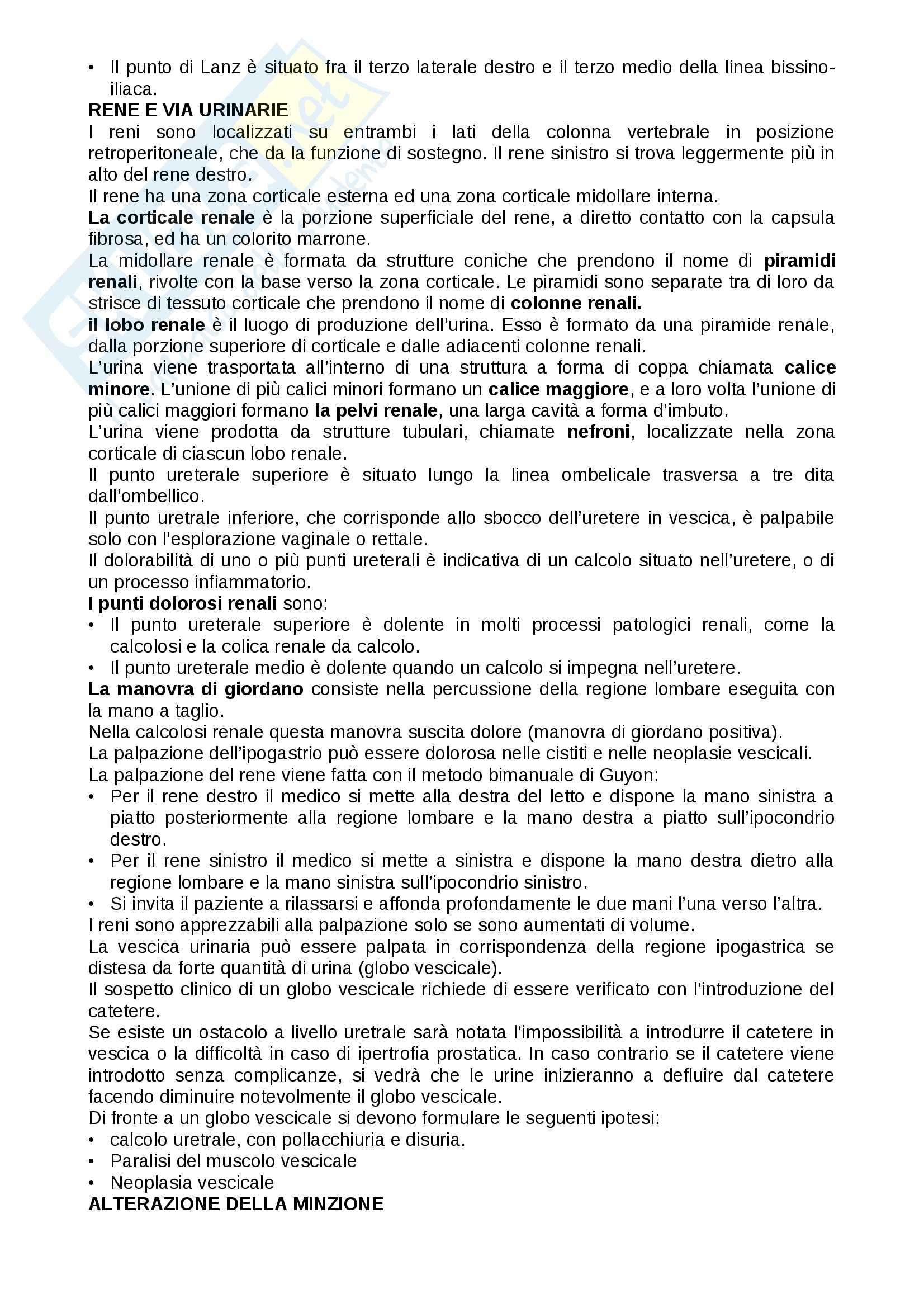 Esame obiettivo dell'addome, Assistenza infermieristica in medicina specialistica Pag. 6