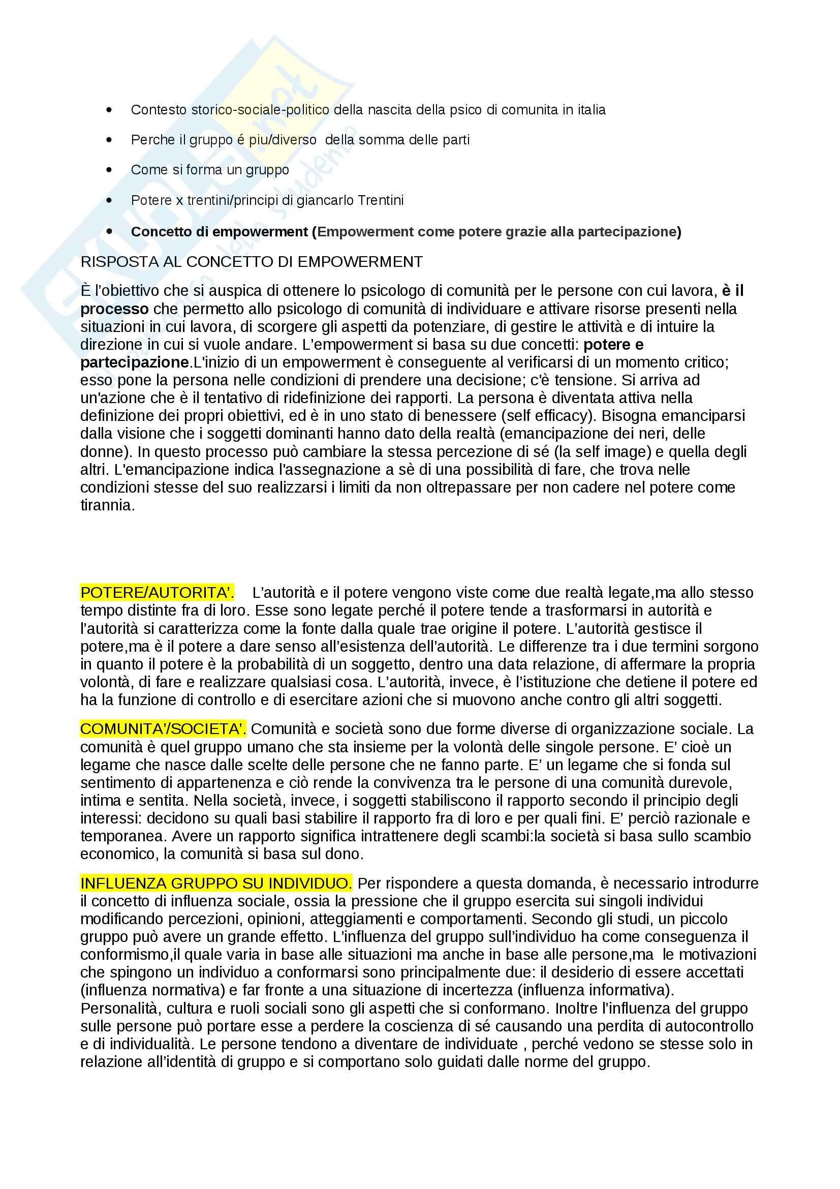 Psicologia di comunità domande Pag. 2