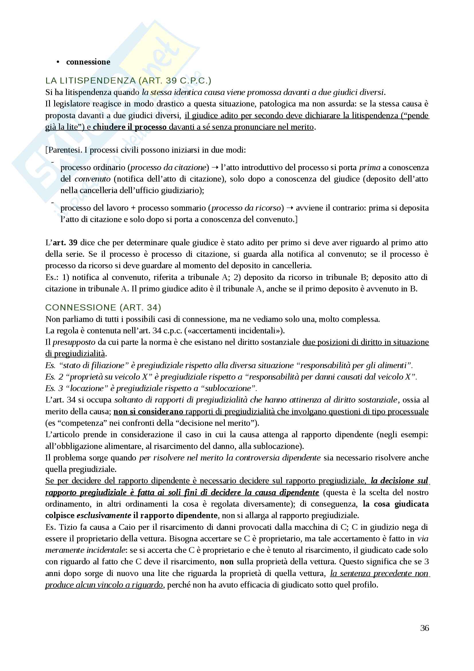 Procedura civile Appunti Pag. 36