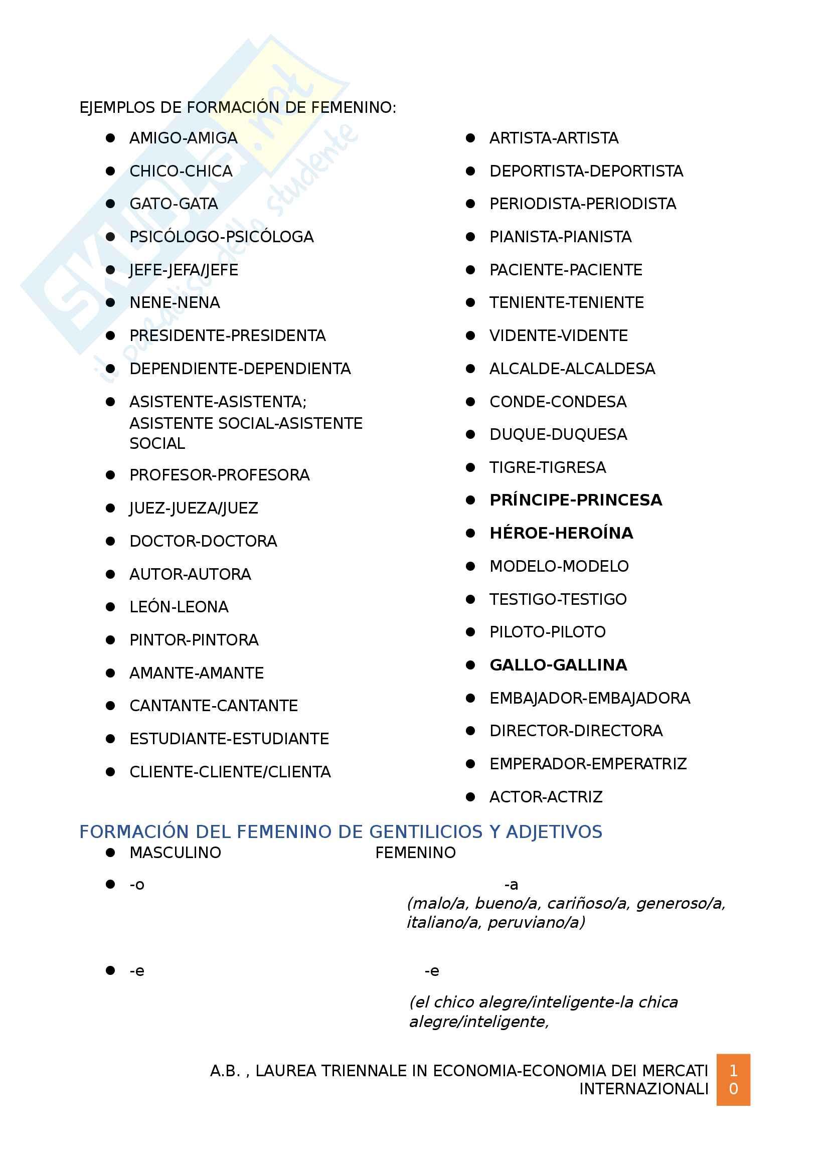 Grammatica spagnola B1 Pag. 11