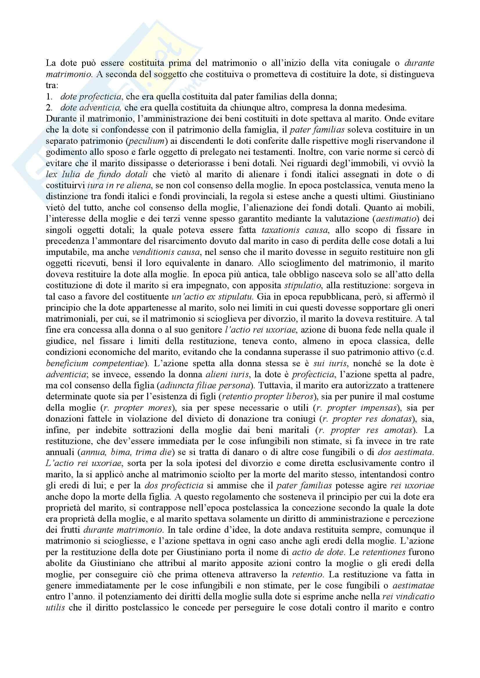 Istituzioni di diritto romano - rapporti giuridici di famiglia Pag. 6