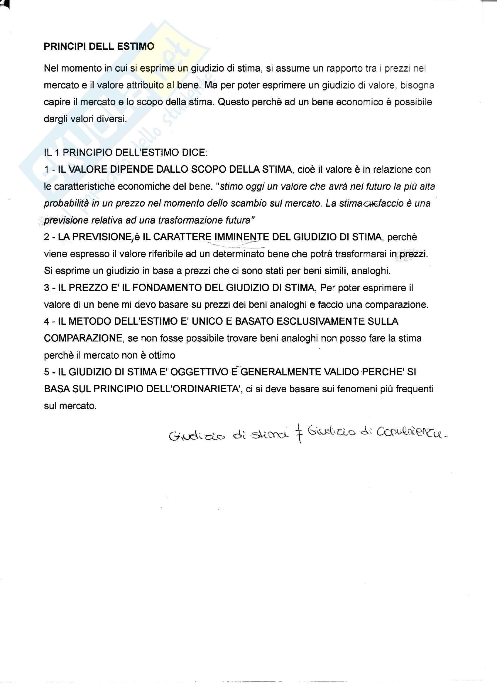 Appunti di Estimo e aspetti tecnico-economici nella gestione del cantiere Pag. 16