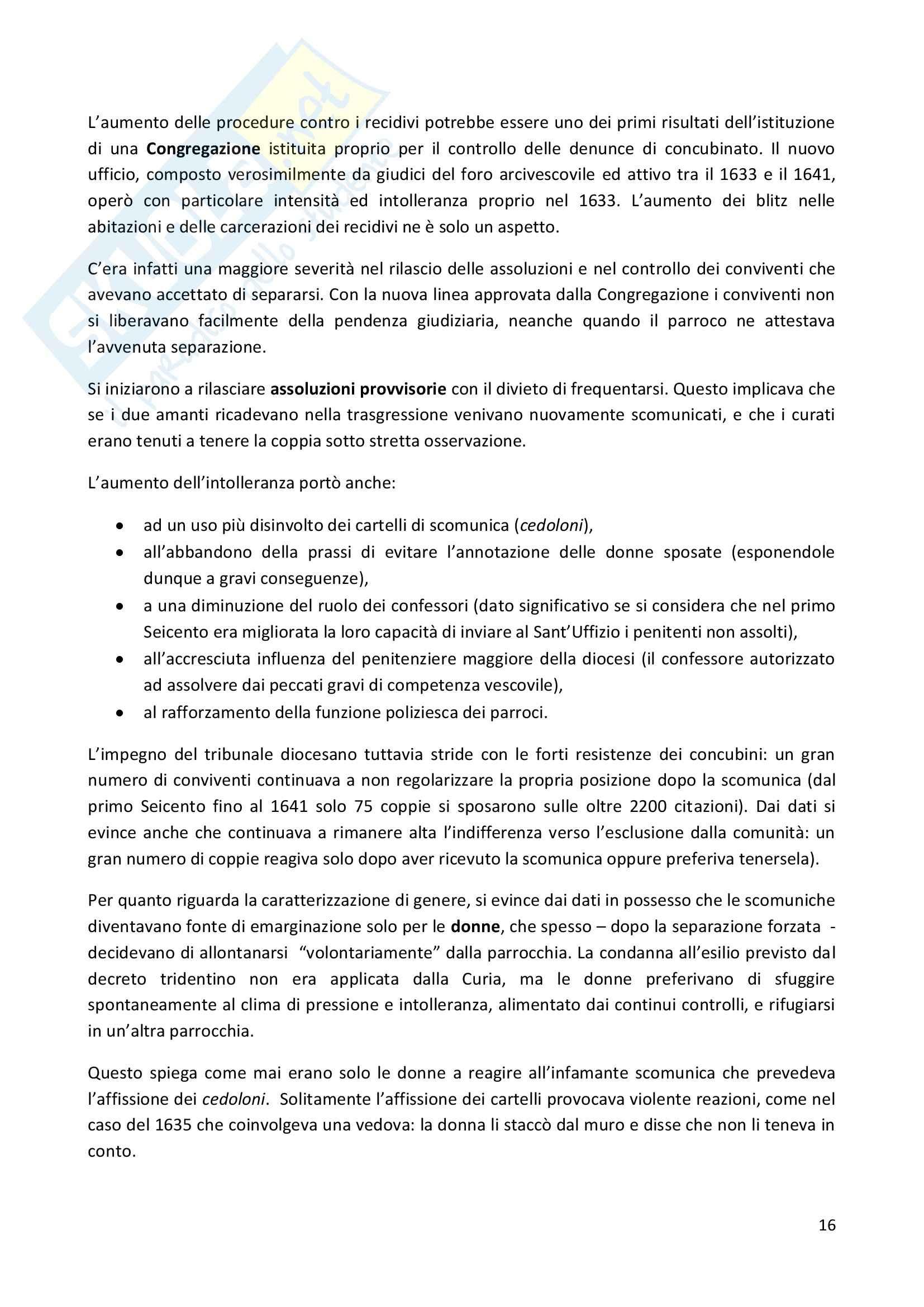 Riassunto esame Storia moderna, prof. Pizzorusso, libro consigliato Amori proibiti, Romeo Pag. 16