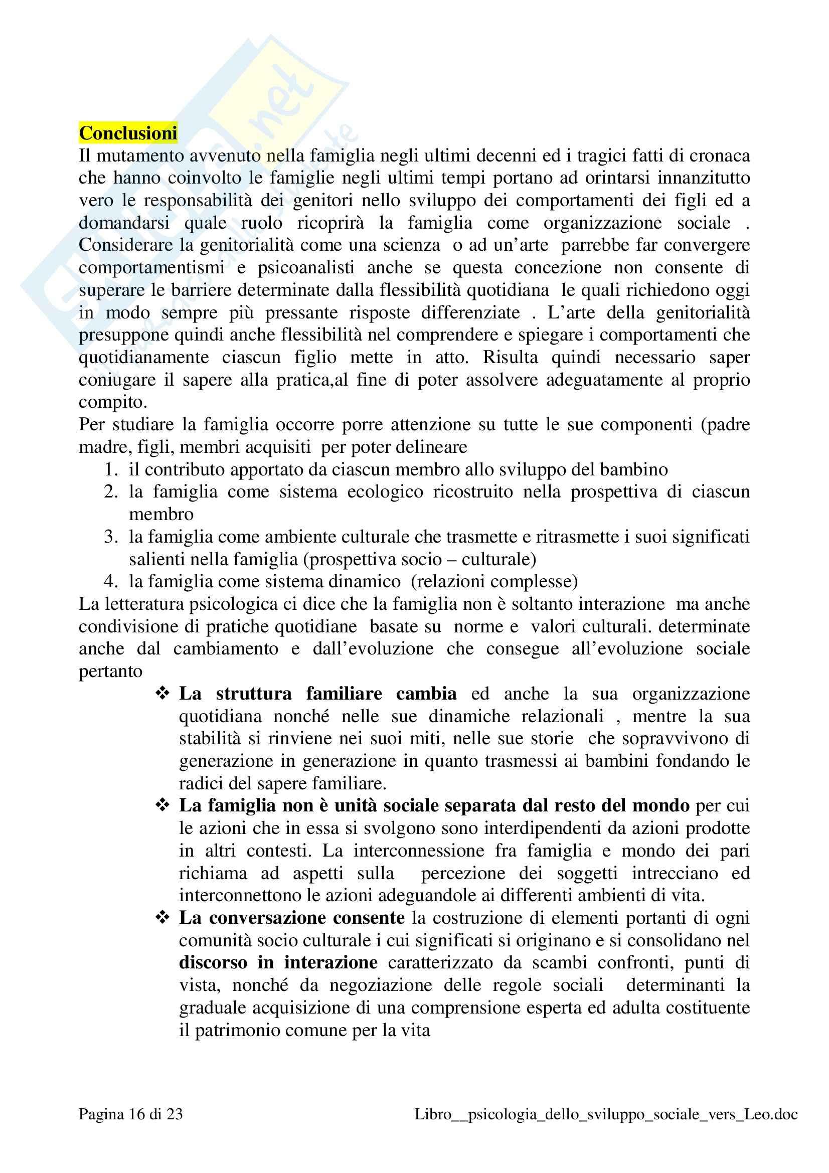 Riassunto esame Psicologia dello sviluppo sociale, prof. Prestano, libro consigliato Psicologia sviluppo sociale, Molinari Pag. 16