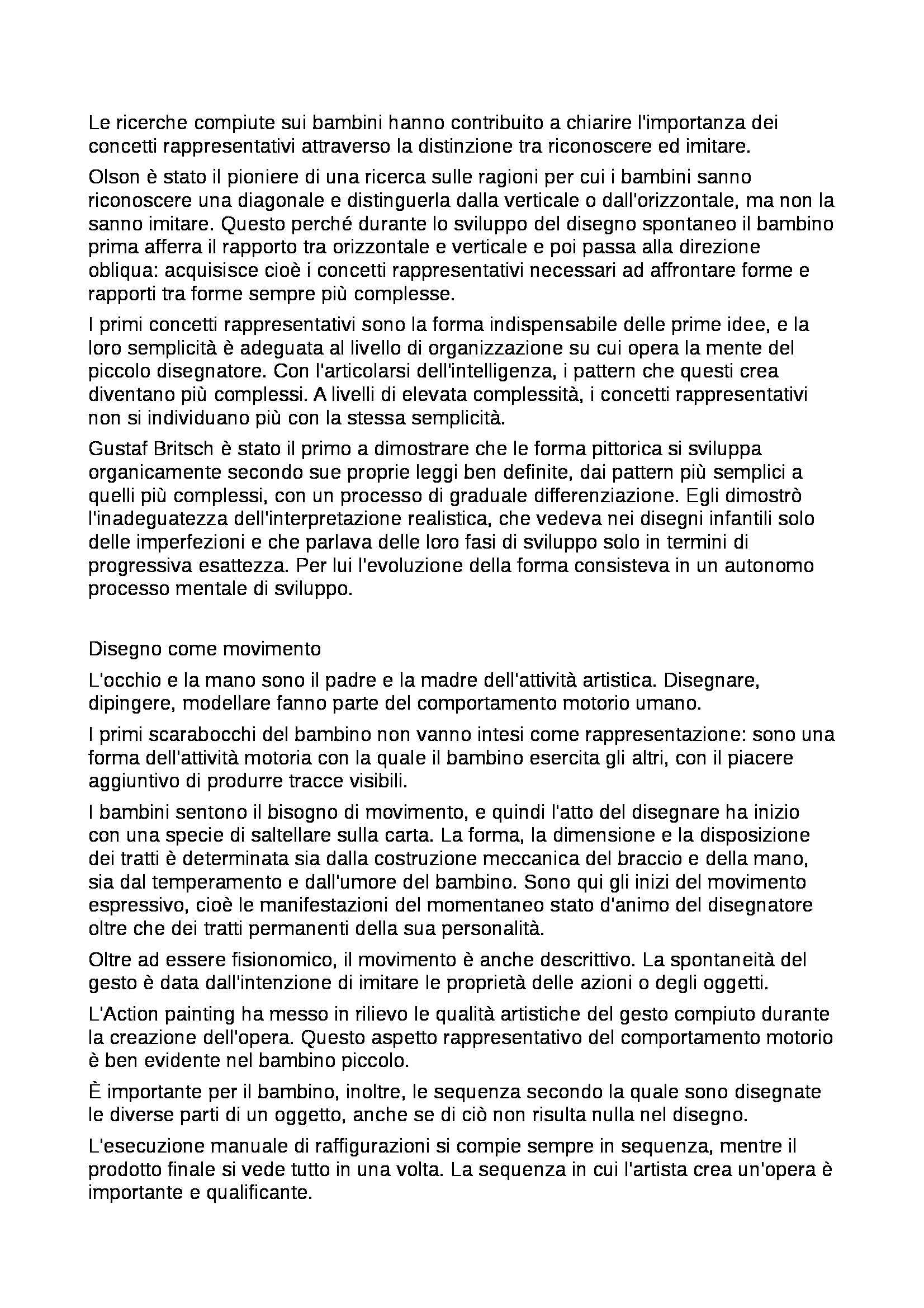Riassunto esame Percezione e comunicazione visiva, prof. De Michele, libro consigliato Arte e percezione visiva, Arnheim Pag. 26