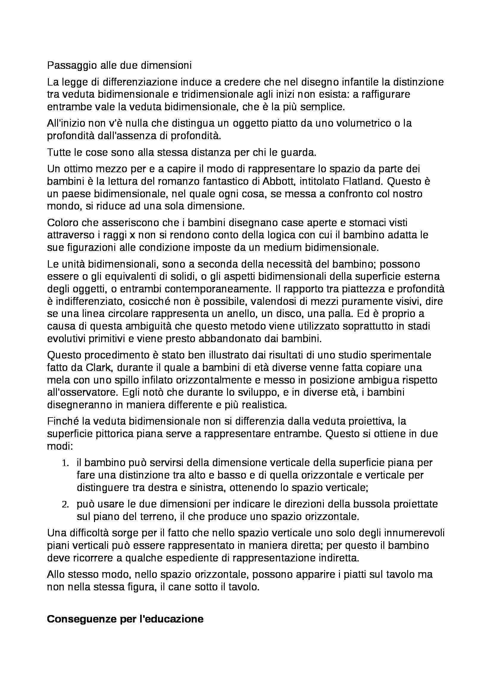 Riassunto esame Percezione e comunicazione visiva, prof. De Michele, libro consigliato Arte e percezione visiva, Arnheim Pag. 31