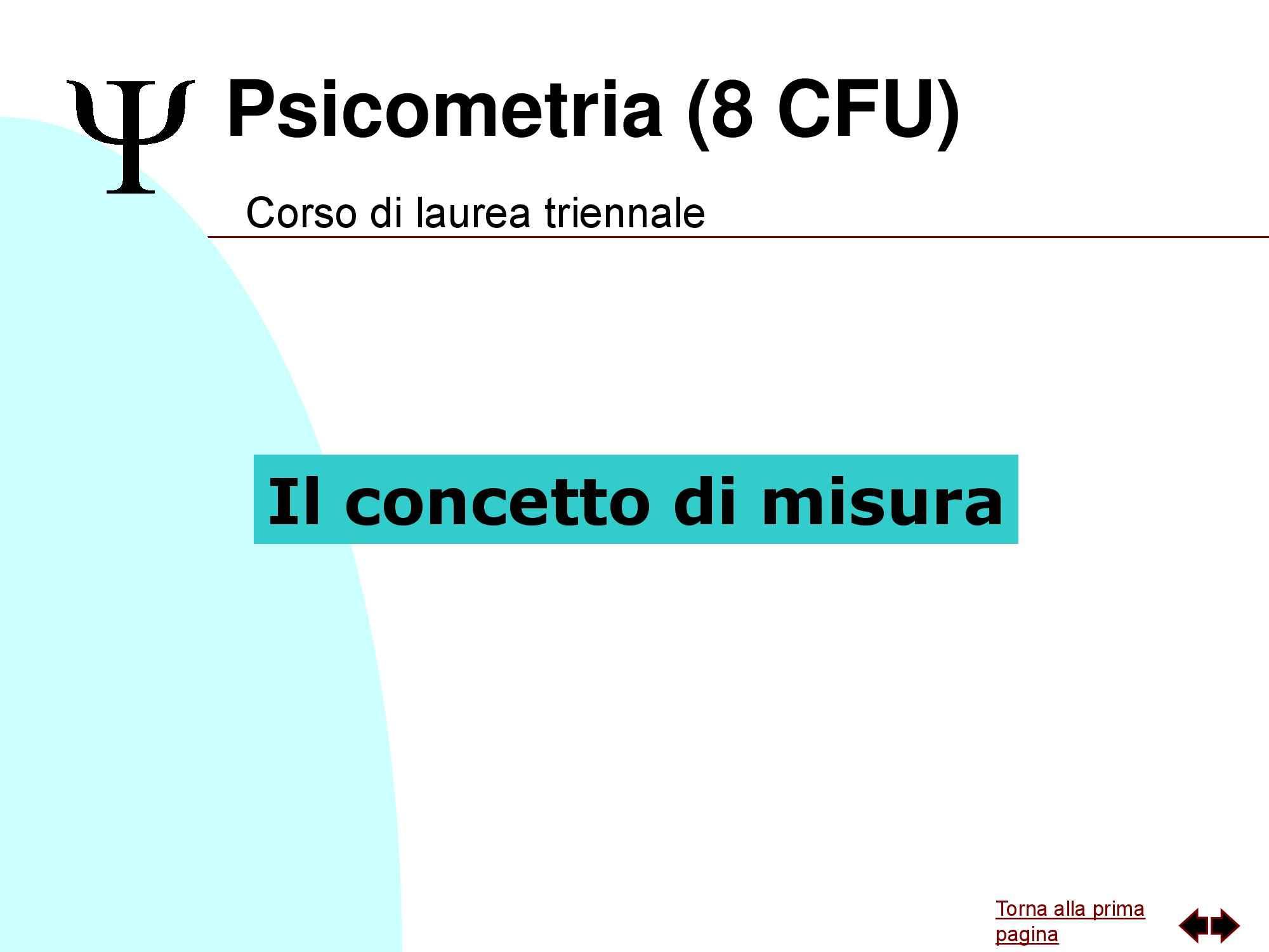 Psicometria - Il concetto di misura