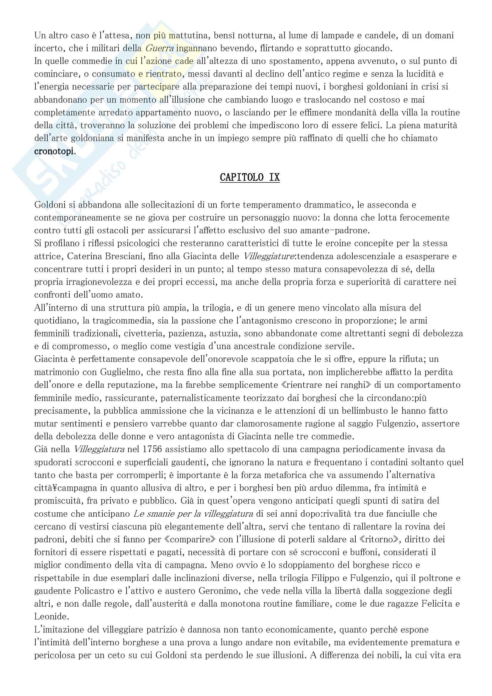 Nuova guida a Goldoni. Teatro e società nel Settecento, Fido - Appunti Pag. 11