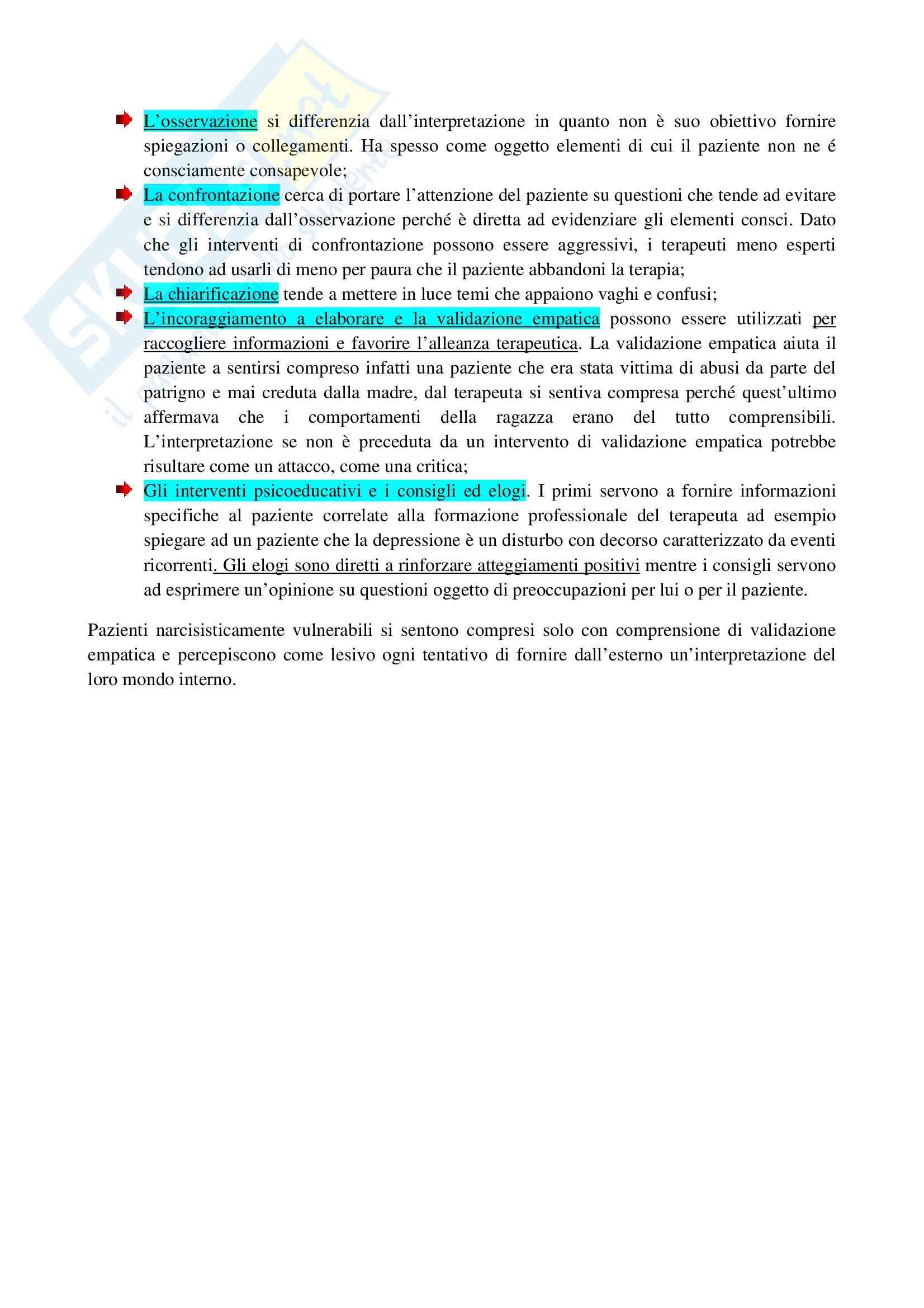 Riassunto esame Psicologia Dinamica, prof. Innamorati, libro consigliato Introduzione alla Psicoterapia, Gabbard Pag. 6
