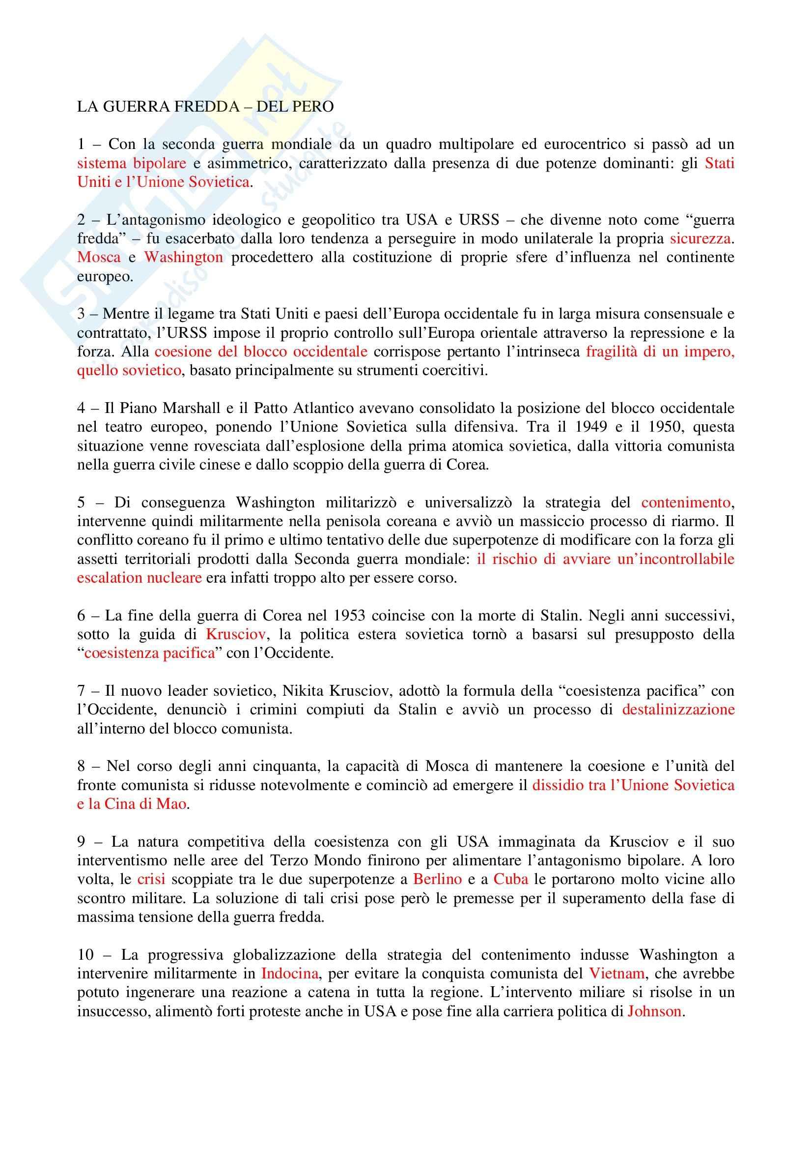 appunto A. Orecchia Storia contemporanea