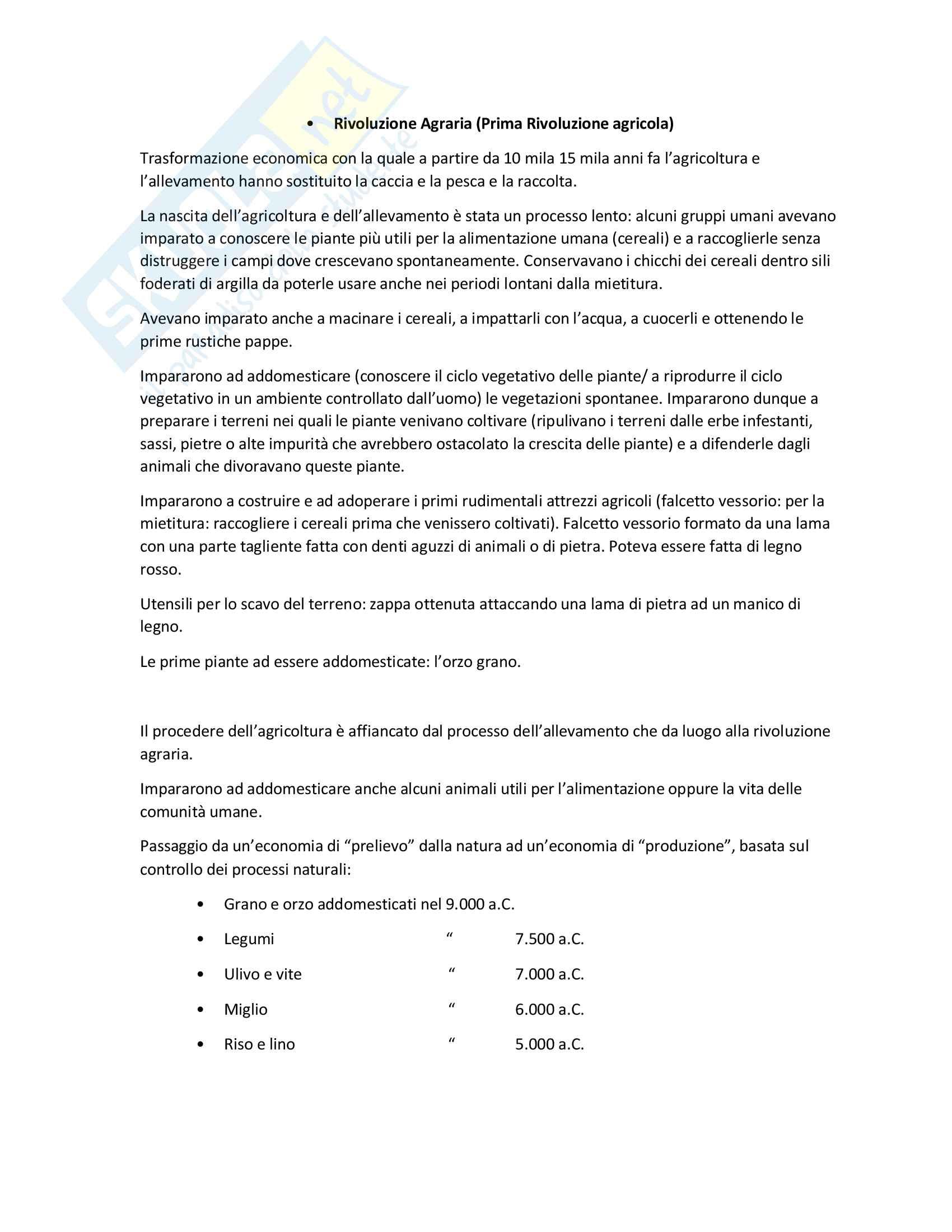 Appunti lezioni storia economica prof Alberto Rinaldi
