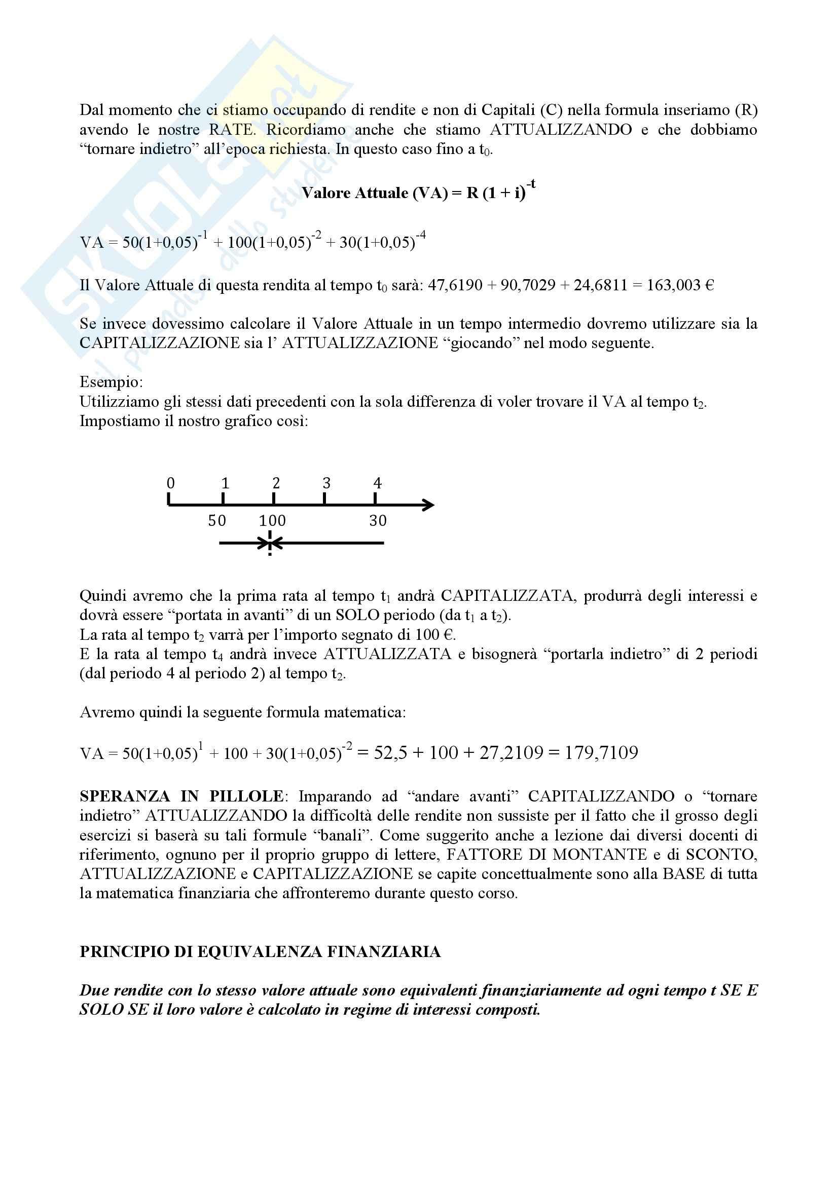 Lezioni, Matematica finanziaria Pag. 11