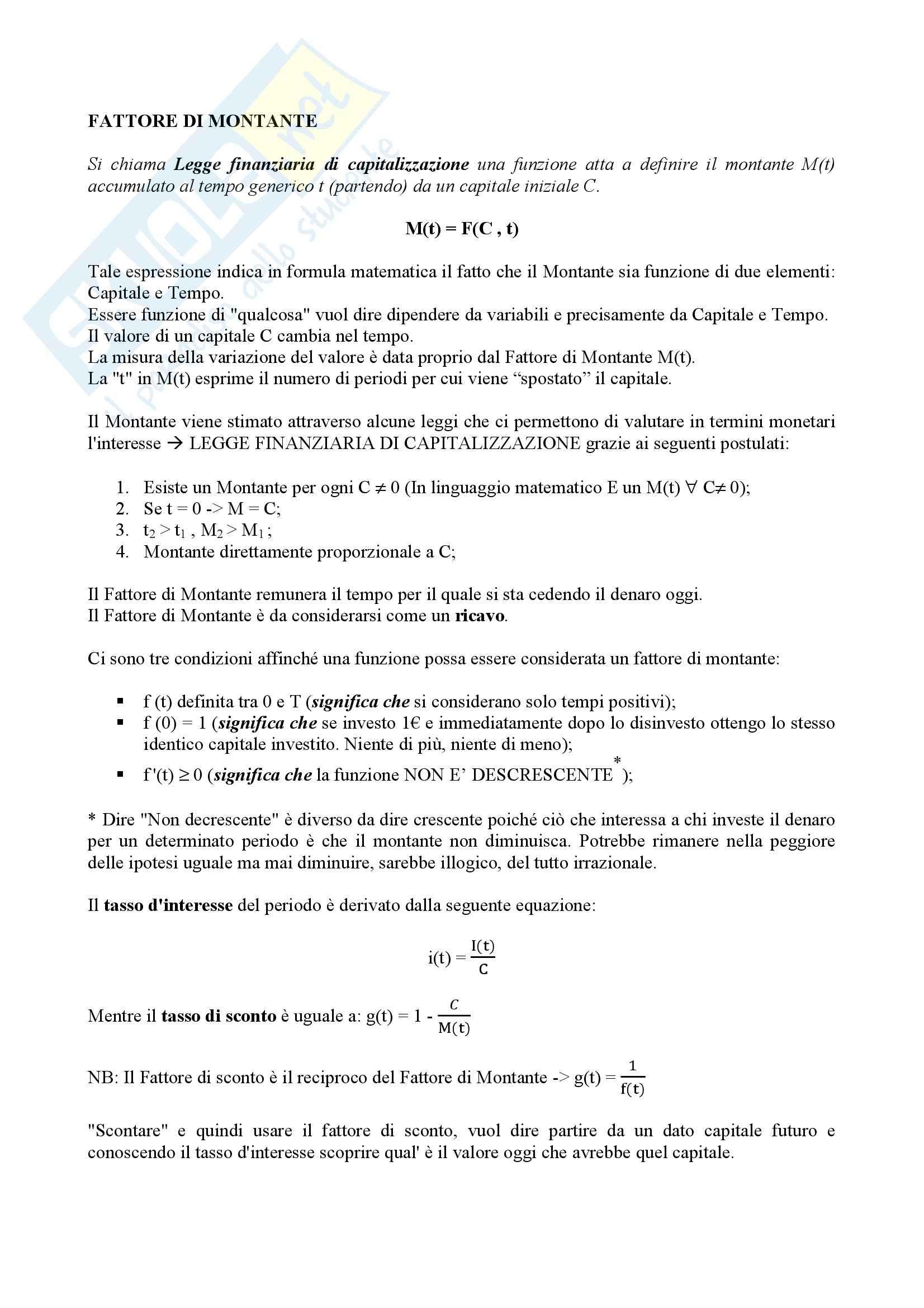 Lezioni, Matematica finanziaria Pag. 2