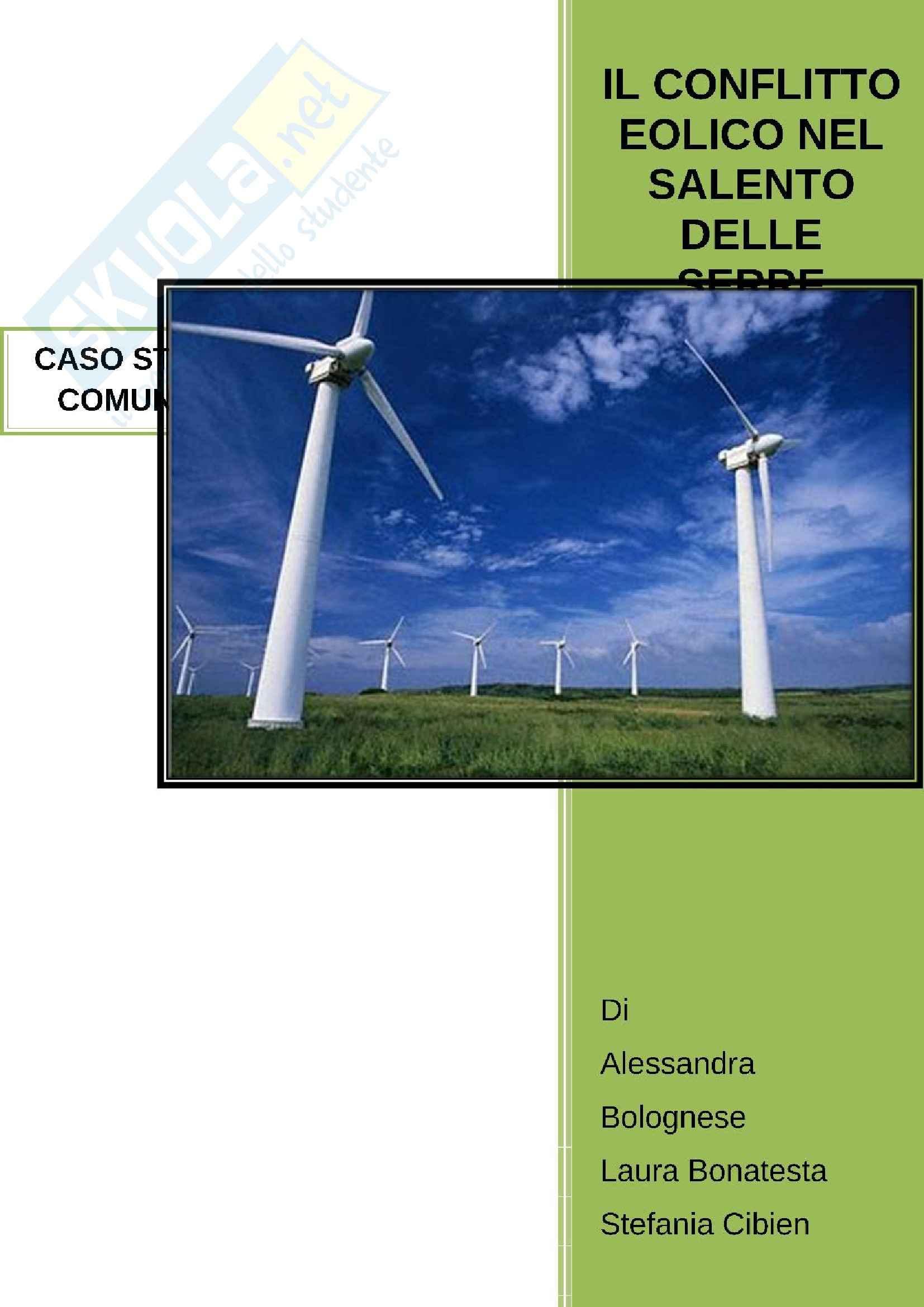 Il conflitto sull'eolico in Puglia - il Salento delle Serre - Caso studio