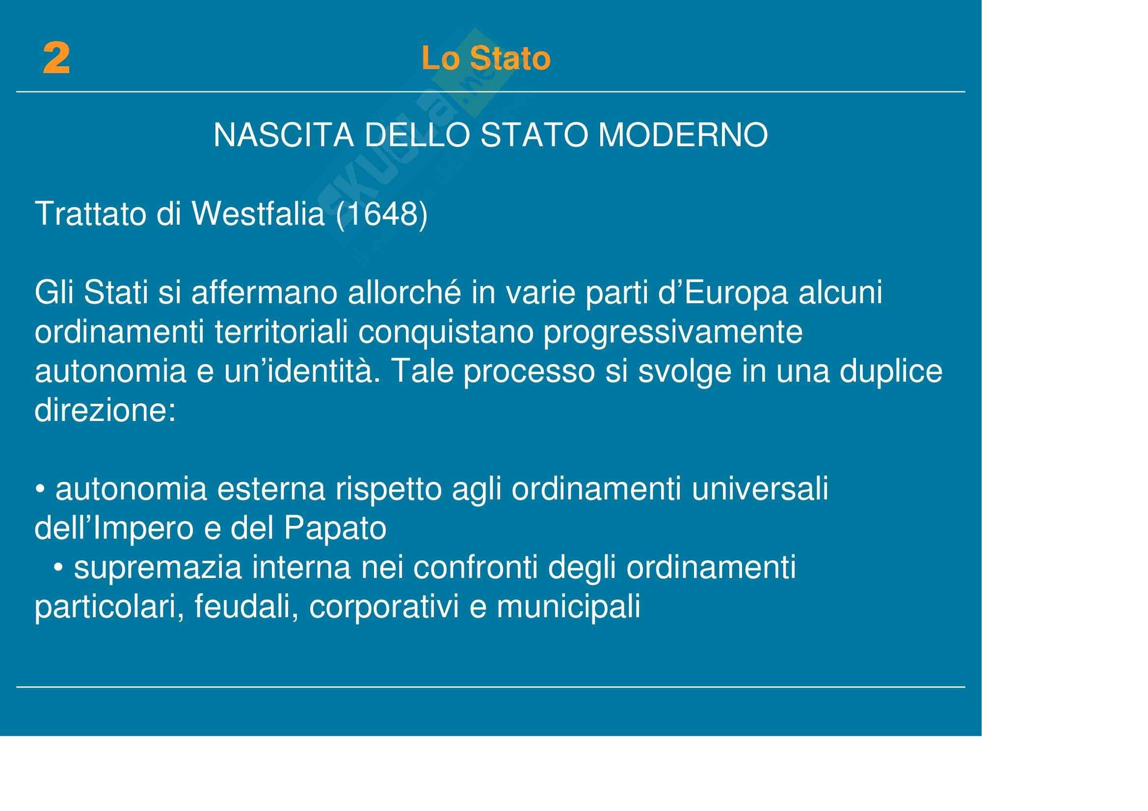 Diritto pubblico, dell'informazione e della comunicazione - la nascita dello Stato moderno Pag. 2