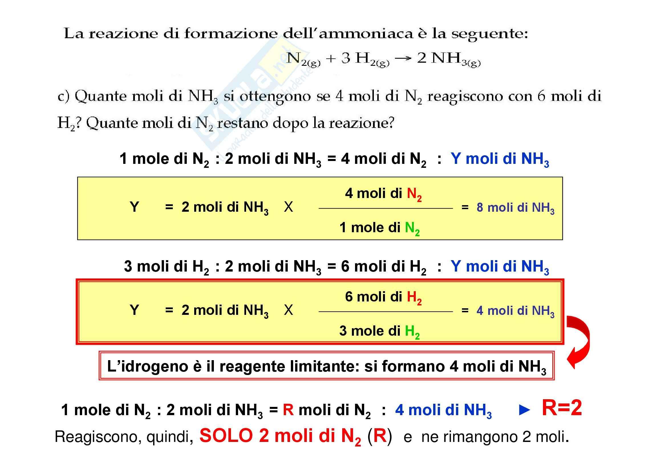 Chimica generale - la stechiometria Pag. 16