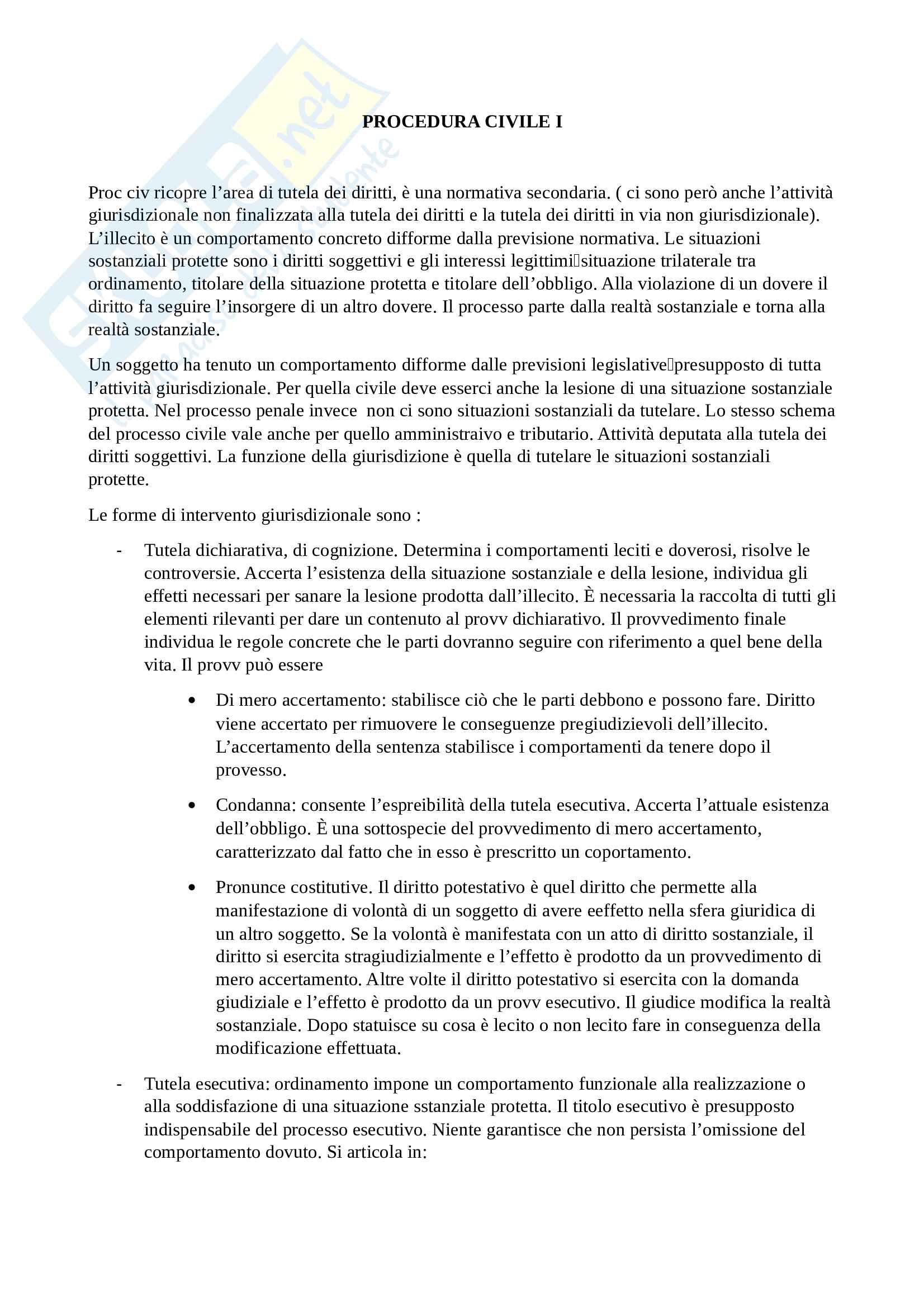 Procedura Civile I - schemi
