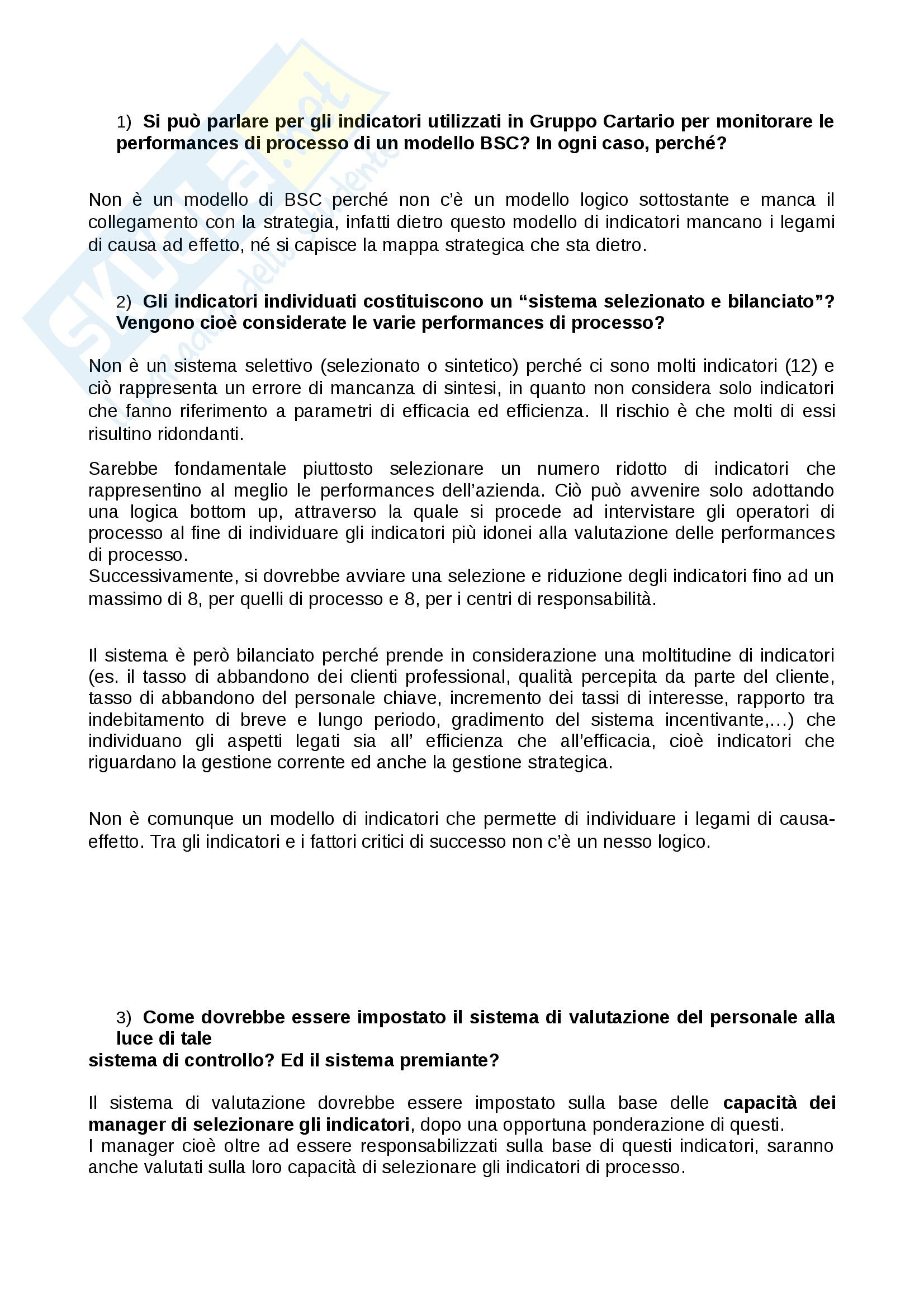 Organizzazione aziendale e gestione dei processi (Casi svolti in aula) Pag. 11